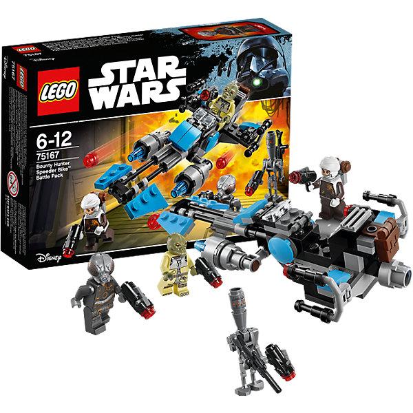Конструктор Lego Star Wars 75167: Спидер охотника за головамиКонструкторы Лего<br>Характеристики товара:<br><br>• возраст: от 6 лет;<br>• материал: пластик;<br>• в комплекте: 122 детали;<br>• количество минифигурок: 4;<br>• размер упаковки: 14,1х19,1х4,6 см;<br>• вес упаковки: 125 гр.;<br>• страна производитель: Китай.<br><br>Конструктор Lego Star Wars «Спидер охотника за головами» создан по мотивам известной космической саги «Звездные войны». Из элементов конструктора предстоит собрать 4 фигурки персонажей и транспортное средство спидер, оснащенный пушками. У каждого охотника за головами в руках свой космический бластер.<br><br>Все детали выполнены из качественных безопасных материалов. В процессе сборки конструктора у детей развиваются мелкая моторика рук, усидчивость, логическое мышление.<br><br>Конструктор Lego Star Wars «Спидер охотника за головами» можно приобрести в нашем интернет-магазине.<br><br>Ширина мм: 401<br>Глубина мм: 200<br>Высота мм: 157<br>Вес г: 130<br>Возраст от месяцев: 72<br>Возраст до месяцев: 2147483647<br>Пол: Мужской<br>Возраст: Детский<br>SKU: 5619971
