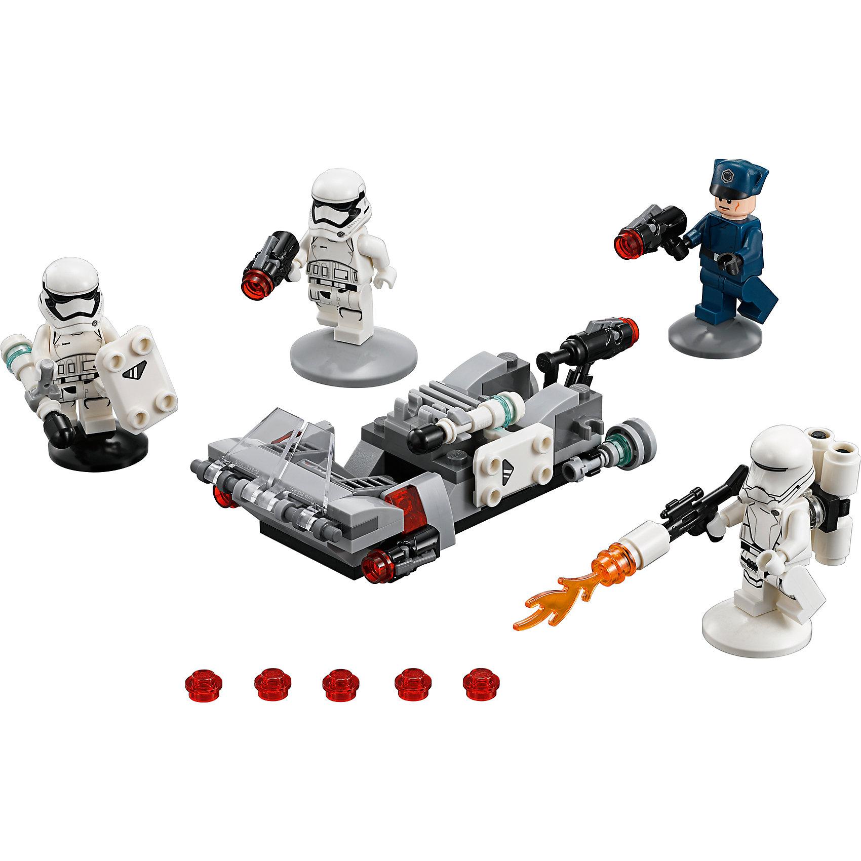 Конструктор Lego Star Wars 75166: Спидер Первого орденаПластмассовые конструкторы<br>Характеристики товара:<br><br>• возраст: от 6 лет;<br>• материал: пластик;<br>• в комплекте: 117 деталей;<br>• количество минифигурок: 4;<br>• размер упаковки: 14,1х19,1х4,6 см;<br>• вес упаковки: 120 гр.;<br>• страна производитель: Чехия.<br><br>Конструктор Lego Star Wars «Спидер Первого ордена» создан по мотивам известной космической саги «Звездные войны». Из элементов конструктора предстоит собрать 4 фигурки персонажей и транспортное средство спидер. Спидер используется для переброски отрядов штурмовиков. Он оснащен двумя передними пушками, стреляющими снарядами, и одной пушкой на задней части.<br><br>Все детали выполнены из качественных безопасных материалов. В процессе сборки конструктора у детей развиваются мелкая моторика рук, усидчивость, логическое мышление.<br><br>Конструктор Lego Star Wars «Спидер Первого ордена» можно приобрести в нашем интернет-магазине.<br><br>Ширина мм: 398<br>Глубина мм: 198<br>Высота мм: 159<br>Вес г: 130<br>Возраст от месяцев: 72<br>Возраст до месяцев: 2147483647<br>Пол: Мужской<br>Возраст: Детский<br>SKU: 5619972