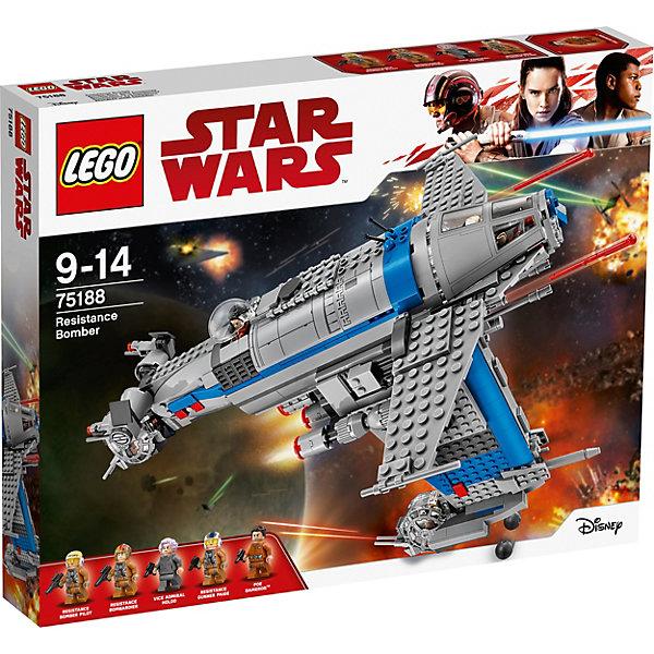 LEGO STAR WARS 75188: Бомбардировщик СопротивленияLEGO<br><br>Ширина мм: 480; Глубина мм: 375; Высота мм: 76; Вес г: 1395; Возраст от месяцев: 108; Возраст до месяцев: 168; Пол: Мужской; Возраст: Детский; SKU: 5619975;