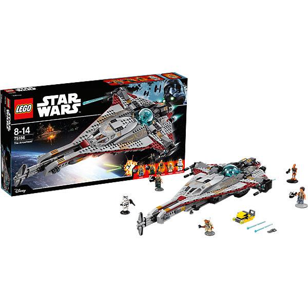 Конструктор Lego Star Wars 75186: СтрелаПластмассовые конструкторы<br>Характеристики товара:<br><br>• возраст: от 8 лет;<br>• материал: пластик;<br>• в комплекте: 775 деталей;<br>• количество минифигурок: 5;<br>• размер упаковки: 54х28,2х8 см;<br>• вес упаковки: 1,26 кг;<br>• страна производитель: Чехия.<br><br>Конструктор Lego Star Wars «Стрела» создан по мотивам мультсериала «Приключения Фримейкеров». Семья Фримейкеров стоит на стороне повстанцев. На корабле Стрела Зандер, Корди, Кварри и дроид R0-GR скрываются от сил Империи.<br><br>Из элементов конструктора предстоит собрать 5 фигурок персонажей и корабль. Все детали выполнены из качественных безопасных материалов. В процессе сборки конструктора у детей развиваются мелкая моторика рук, усидчивость, логическое мышление.<br><br>Конструктор Lego Star Wars «Стрела» можно приобрести в нашем интернет-магазине.<br><br>Ширина мм: 540<br>Глубина мм: 281<br>Высота мм: 83<br>Вес г: 1271<br>Возраст от месяцев: 96<br>Возраст до месяцев: 2147483647<br>Пол: Мужской<br>Возраст: Детский<br>SKU: 5619980