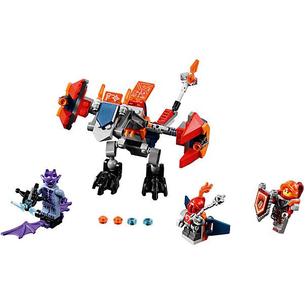 Конструктор Lego Nexo Knights 70361: Дракон МэйсиКонструкторы Лего<br>Характеристики товара:<br><br>• возраст: от 7 лет;<br>• материал: пластик;<br>• в комплекте: 153 детали;<br>• количество минифигурок: 3;<br>• размер упаковки: 26,2х14,1х4,8 см;<br>• вес упаковки: 195 гр.;<br>• страна производитель: Чехия.<br><br>Конструктор Lego Nexo Knights «Дракон Мэйси» входит в серию Лего Нексо Найтс, которая повествует о королевстве Найтония и отважных рыцарях Нексо. Мэйси — храбрая девушка-рыцарь. В борьбе с соперниками ей помогает ее дракон, стреляющий острыми шипами.<br><br>Из элементов конструктора предстоит собрать 3 фигурки и дракона. С ними дети могут придумывать свои захватывающие сюжеты для игры. В набор также включены нексо-силы, которые можно отсканировать через приложение и играть в игру. Сборка конструктора развивает у ребенка логическое мышление, моторику рук, усидчивость.<br><br>Конструктор Lego Nexo Knights «Дракон Мэйси» можно приобрести в нашем интернет-магазине.<br><br>Ширина мм: 260<br>Глубина мм: 144<br>Высота мм: 53<br>Вес г: 196<br>Возраст от месяцев: 84<br>Возраст до месяцев: 2147483647<br>Пол: Мужской<br>Возраст: Детский<br>SKU: 5619988