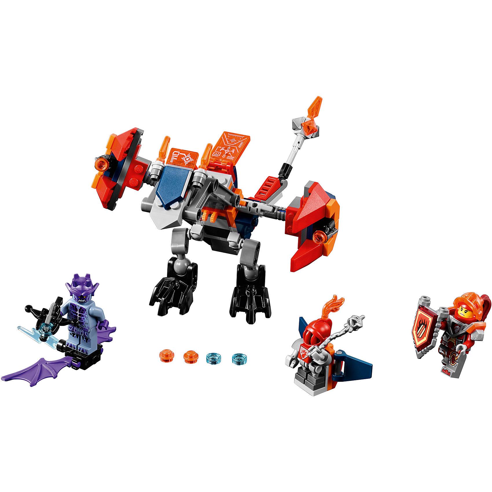 Конструктор Lego Nexo Knights 70361: Дракон МэйсиПластмассовые конструкторы<br>Характеристики товара:<br><br>• возраст: от 7 лет;<br>• материал: пластик;<br>• в комплекте: 153 детали;<br>• количество минифигурок: 3;<br>• размер упаковки: 26,2х14,1х4,8 см;<br>• вес упаковки: 195 гр.;<br>• страна производитель: Чехия.<br><br>Конструктор Lego Nexo Knights «Дракон Мэйси» входит в серию Лего Нексо Найтс, которая повествует о королевстве Найтония и отважных рыцарях Нексо. Мэйси — храбрая девушка-рыцарь. В борьбе с соперниками ей помогает ее дракон, стреляющий острыми шипами.<br><br>Из элементов конструктора предстоит собрать 3 фигурки и дракона. С ними дети могут придумывать свои захватывающие сюжеты для игры. В набор также включены нексо-силы, которые можно отсканировать через приложение и играть в игру. Сборка конструктора развивает у ребенка логическое мышление, моторику рук, усидчивость.<br><br>Конструктор Lego Nexo Knights «Дракон Мэйси» можно приобрести в нашем интернет-магазине.<br><br>Ширина мм: 260<br>Глубина мм: 144<br>Высота мм: 53<br>Вес г: 196<br>Возраст от месяцев: 84<br>Возраст до месяцев: 2147483647<br>Пол: Мужской<br>Возраст: Детский<br>SKU: 5619988