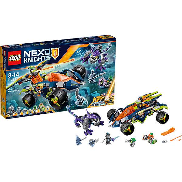 Конструктор Lego Nexo Knights 70355: Вездеход Аарона 4x4Пластмассовые конструкторы<br>Характеристики товара:<br><br>• возраст: от 8 лет;<br>• материал: пластик;<br>• в комплекте: 598 деталей;<br>• количество минифигурок: 5;<br>• размер упаковки: 28,2х48х6,1 см;<br>• вес упаковки: 935 гр.;<br>• страна производитель: Чехия.<br><br>Конструктор Lego Nexo Knights «Вездеход Аарона» входит в серию Лего Нексо Найтс, которая повествует о королевстве Найтония и отважных рыцарях Нексо. Аарону надо сразиться с опасным монстром Лорда Струтоглава. У самого Лорда имеется магическое оружие. Аарон ведет против него борьбу на своем вездеходе, который стреляет из арбалета стрелами.<br><br>Из элементов конструктора предстоит собрать 5 фигурок персонажей, монстра и машину. С ними дети могут придумывать свои захватывающие сюжеты для игры. В набор также включены 2 нексо-силы, которые можно отсканировать через приложение и играть в игру. Сборка конструктора развивает у ребенка логическое мышление, моторику рук, усидчивость.<br><br>Конструктор Lego Nexo Knights «Вездеход Аарона» можно приобрести в нашем интернет-магазине.<br><br>Ширина мм: 482<br>Глубина мм: 286<br>Высота мм: 68<br>Вес г: 932<br>Возраст от месяцев: 96<br>Возраст до месяцев: 2147483647<br>Пол: Мужской<br>Возраст: Детский<br>SKU: 5619991