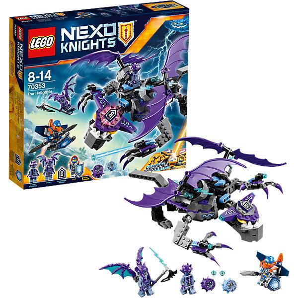 Конструктор Lego Nexo Knights 70353: Летающая ГоргульяПластмассовые конструкторы<br>Характеристики товара:<br><br>• возраст: от 8 лет;<br>• материал: пластик;<br>• в комплекте: 318 деталей;<br>• количество минифигурок: 2<br>• размер упаковки: 28,2х26,2х6 см;<br>• вес упаковки: 440 гр.;<br>• страна производитель: Чехия.<br><br>Конструктор Lego Nexo Knights «Летающая Горгулья» входит в серию Лего Нексо Найтс, которая повествует о королевстве Найтония и отважных рыцарях Нексо. Противники Каменные солдаты летают на большой фиолетовой Горгулье с острыми когтями. Храброму Клэю предстоит сразиться с опасной Горгульей и не дать ей завладеть талисманом с магией.<br><br>Из элементов конструктора предстоит собрать фигурки Клэя, каменного солдата и Горгулью. С ними дети могут придумывать свои захватывающие сюжеты для игры. Сборка конструктора развивает у ребенка логическое мышление, моторику рук, усидчивость.<br><br>Конструктор Lego Nexo Knights «Летающая Горгулья» можно приобрести в нашем интернет-магазине.<br><br>Ширина мм: 282<br>Глубина мм: 266<br>Высота мм: 66<br>Вес г: 484<br>Возраст от месяцев: 96<br>Возраст до месяцев: 2147483647<br>Пол: Мужской<br>Возраст: Детский<br>SKU: 5619993