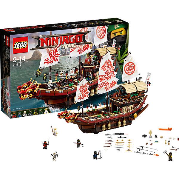 LEGO NINJAGO 70618: Летающий корабль Мастера ВуПластмассовые конструкторы<br>Характеристики товара: <br><br>• возраст: от 9 лет;<br>• материал: пластик;<br>• в комплекте: 2295 деталей, 7 минифигурок;<br>• размер корабля: 55х45 см;<br>• размер упаковки: 58,2х37,8х11,8 см;<br>• вес упаковки: 2,96 кг;<br>• страна производитель: Чехия.<br><br>Конструктор Lego Ninjago «Летающий корабль Мастера Ву» создан по мотивам нового фильма «Лего-фильм: Ниндзяго», где отважным воинам ниндзя противостоит грозный Гармадон. Из элементов собирается мощный корабль с тремя мачтами с парусами. На носу корабля — величественные головы драконов. Якорь корабля поднимается и опускается при помощи вращательного механизма. На корабле имеется каюта для отдыха.<br><br>Конструктор Lego Ninjago «Летающий корабль Мастера Ву» можно приобрести в нашем интернет-магазине.<br><br>Ширина мм: 583<br>Глубина мм: 375<br>Высота мм: 121<br>Вес г: 2952<br>Возраст от месяцев: 108<br>Возраст до месяцев: 168<br>Пол: Мужской<br>Возраст: Детский<br>SKU: 5619994