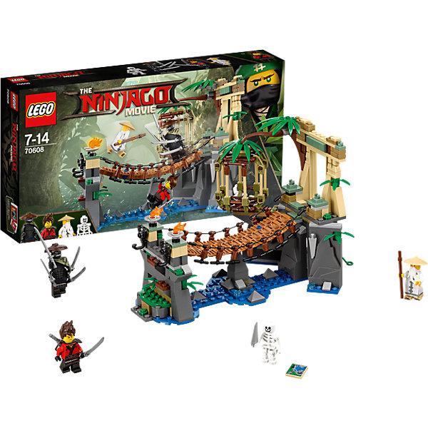 LEGO NINJAGO 70608: Битва Гармадона и Мастера ВуКонструкторы Лего<br>Характеристики товара: <br><br>• возраст: от 7 лет;<br>• материал: пластик;<br>• в комплекте: 312 деталей, 4 минифигурки;<br>• размер упаковки: 35,4х19,1х5,9 см;<br>• вес упаковки: 470 гр.;<br>• страна производитель: Чехия.<br><br>Конструктор Lego Ninjago «Битва Гармадона и Мастера Ву» создан по мотивам нового фильма «Лего-фильм: Ниндзяго», где отважным воинам ниндзя противостоит грозный Гармадон. По сюжету на заброшенном мосту разворачивается битва между главным злодеем Гармадоном и Мастером Ву. Из деталей собирается подвесной мост над речкой и клетка. В которую попадет побежденный. <br><br>Конструктор Lego Ninjago «Битва Гармадона и Мастера Ву» можно приобрести в нашем интернет-магазине.<br><br>Ширина мм: 356<br>Глубина мм: 190<br>Высота мм: 63<br>Вес г: 467<br>Возраст от месяцев: 84<br>Возраст до месяцев: 168<br>Пол: Мужской<br>Возраст: Детский<br>SKU: 5620002