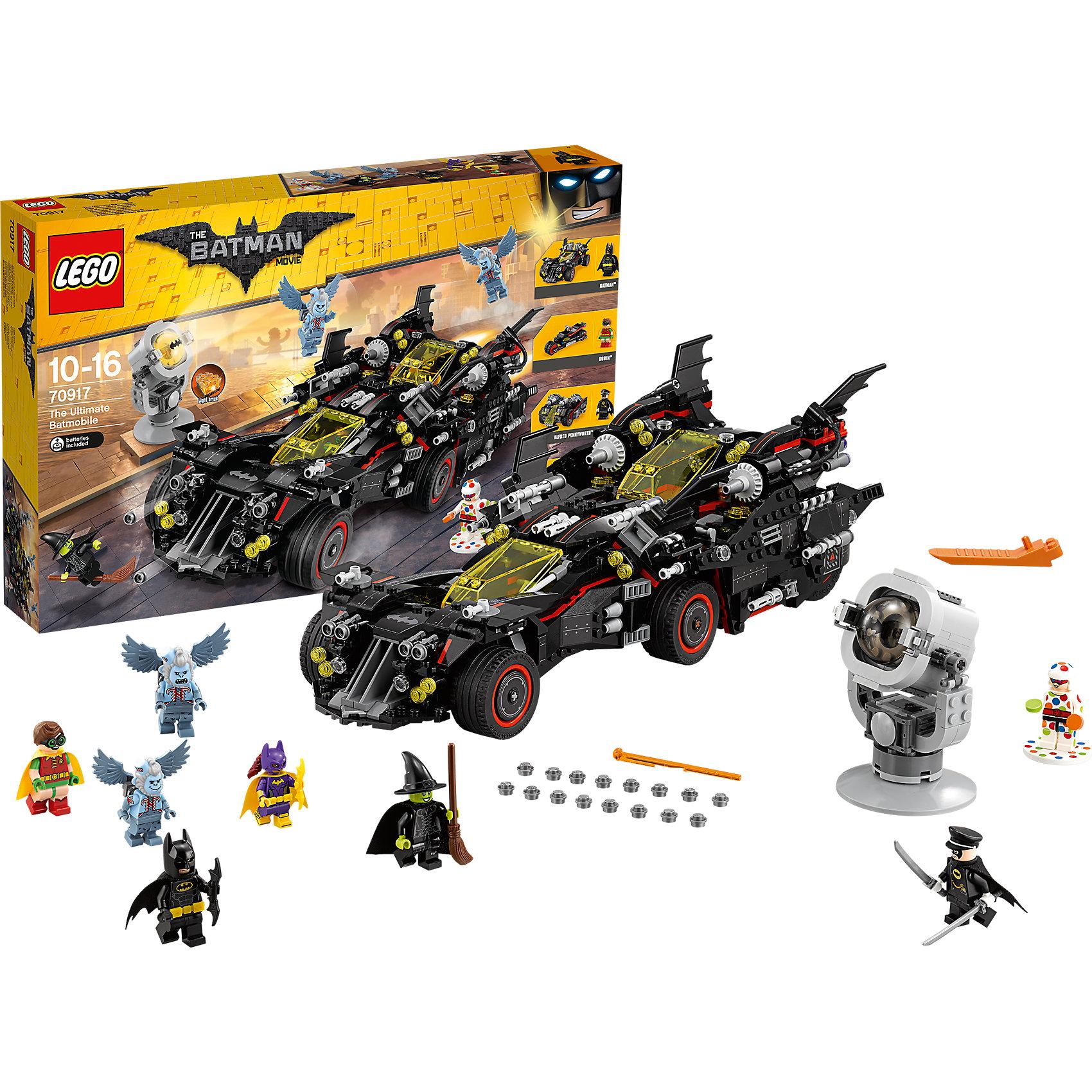 LEGO Batman Movie 70917: Крутой БэтмобильПластмассовые конструкторы<br><br><br>Ширина мм: 583<br>Глубина мм: 378<br>Высота мм: 96<br>Вес г: 1959<br>Возраст от месяцев: 120<br>Возраст до месяцев: 192<br>Пол: Мужской<br>Возраст: Детский<br>SKU: 5620005