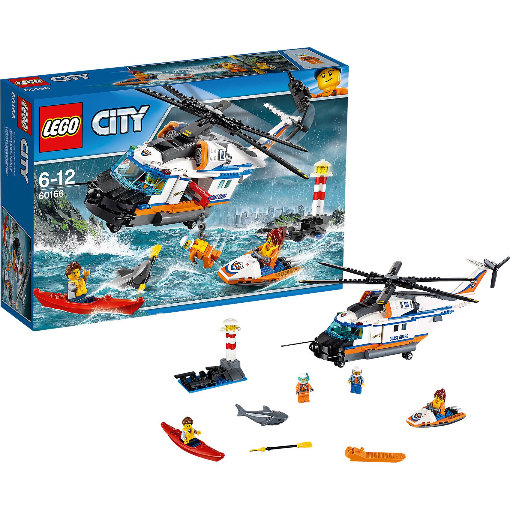 LEGO City 60166: Сверхмощный спасательный вертолётПластмассовые конструкторы<br><br><br>Ширина мм: 385<br>Глубина мм: 263<br>Высота мм: 101<br>Вес г: 1002<br>Возраст от месяцев: 72<br>Возраст до месяцев: 144<br>Пол: Мужской<br>Возраст: Детский<br>SKU: 5620020