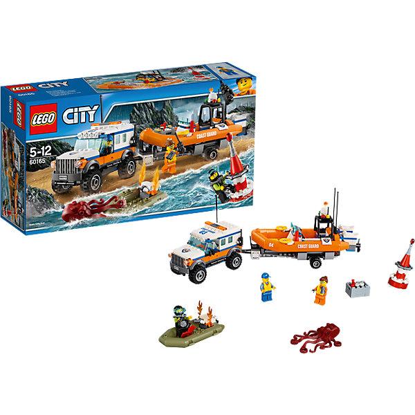 LEGO City 60165: Внедорожник 4х4 команды быстрого реагированияПластмассовые конструкторы<br>Характеристики товара: <br><br>• возраст: от 5 лет;<br>• материал: пластик;<br>• в комплекте: 347 деталей, 3 минифигурки;<br>• размер упаковки: 35,4х19,1х9,1 см;<br>• вес упаковки: 615 гр.;<br>• страна производитель: Чехия.<br><br>Конструктор Lego City «Внедорожник 4х4 команды быстрого реагирования» из серии Лего Сити Береговая охрана. Из деталей собирается внедорожник, везущий спасательную шлюпку. У внедорожника вращающиеся колеса. На задней части имеется отсек для перевозки необходимых спасательных инструментов. За задний бампер крепится прицеп для лодки. Лодка устанавливается на прицеп, на нее можно посадить фигурки спасателей.<br><br>Конструктор Lego City «Внедорожник 4х4 команды быстрого реагирования» можно приобрести в нашем интернет-магазине.<br><br>Ширина мм: 356<br>Глубина мм: 195<br>Высота мм: 93<br>Вес г: 622<br>Возраст от месяцев: 60<br>Возраст до месяцев: 144<br>Пол: Мужской<br>Возраст: Детский<br>SKU: 5620021