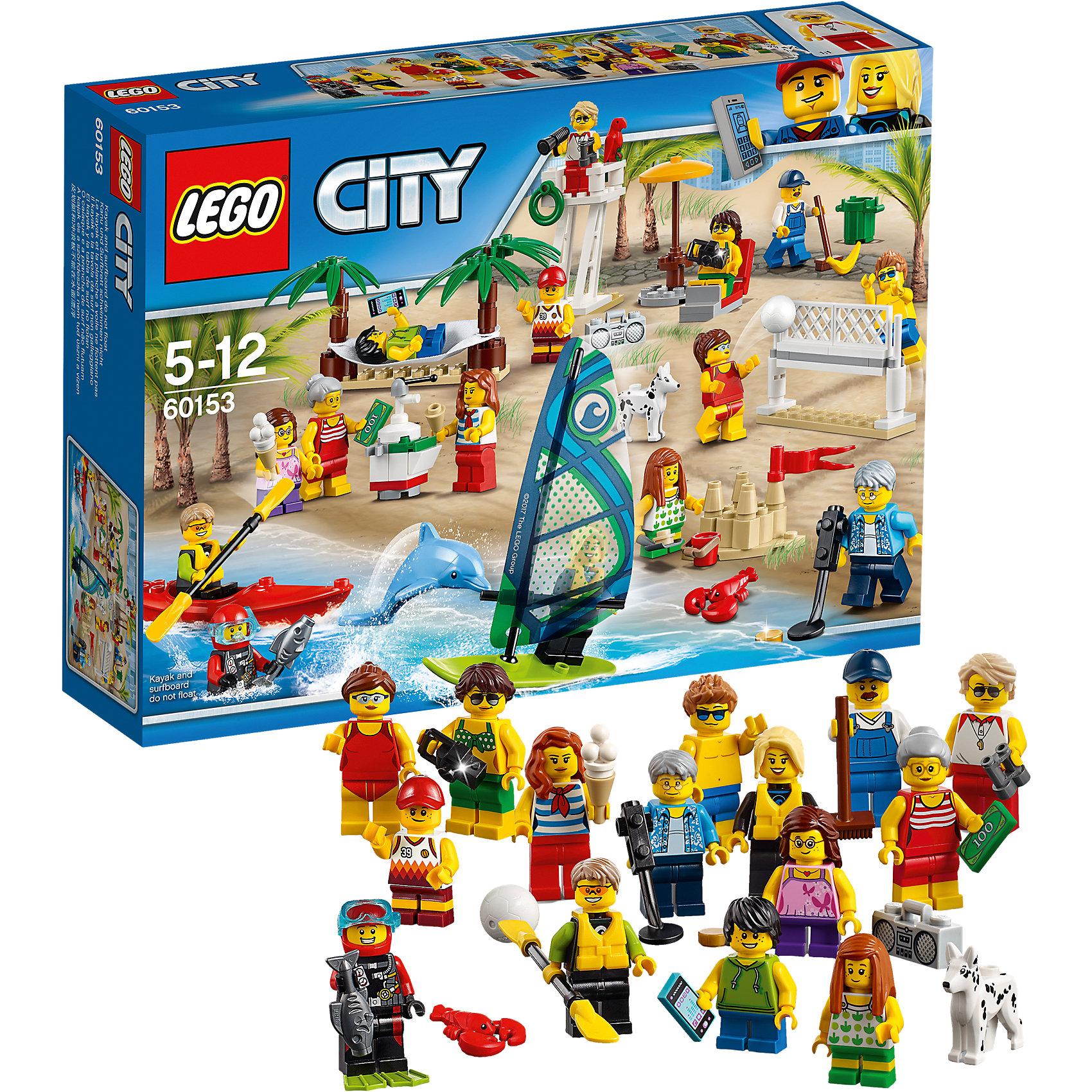 LEGO City 60153: Отдых на пляже - жителиПластмассовые конструкторы<br><br><br>Ширина мм: 263<br>Глубина мм: 192<br>Высота мм: 66<br>Вес г: 290<br>Возраст от месяцев: 60<br>Возраст до месяцев: 144<br>Пол: Мужской<br>Возраст: Детский<br>SKU: 5620032