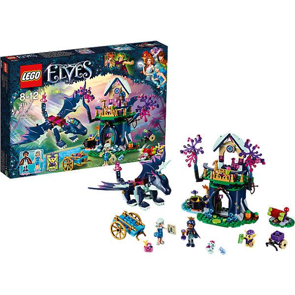 Конструктор Lego Elves 41187: Тайная лечебница РозалинПластмассовые конструкторы<br>Характеристики товара:<br><br>• возраст: от 8 лет;<br>• материал: пластик;<br>• количество деталей: 460 деталей;<br>• в комплекте: детали конструктора, 3 минифигурки, 2 микрофигурки, повозка, дракон, хищное растение, аксессуары<br>• размер упаковки: 38,2х26,2х5,7 см;<br>• вес упаковки: 615 гр.;<br>• страна производитель: Китай.<br><br>Конструктор Lego Elves «Тайная лечебница Розалин» относится к серии Лего Эльфы, рассказывающей о хранительнице портала между миром эльфов и людей Эмили Джонс. В лечебнице Розалин имеется все необходимое для исцеления: колбы, кристаллы, овощи, котел. Для защиты от гоблинов Розалин использует лук, а также телескоп для осмотра местности. С ней ее верный дракон Сапфир. К Розалин заехала эльф воды Наида и привезла продуктов.<br><br>Из элементов конструктора предстоит собрать домик, повозку, дракона, фигурки эльфов и гоблина. С ними девочка сможет придумать захватывающие сюжеты для игры. Сборка конструктора развивает у детей мелкую моторику рук, усидчивость, логическое мышление.<br><br>Конструктор Lego Elves «Тайная лечебница Розалин» можно приобрести в нашем интернет-магазине.<br>Ширина мм: 381; Глубина мм: 263; Высота мм: 60; Вес г: 618; Возраст от месяцев: 96; Возраст до месяцев: 2147483647; Пол: Женский; Возраст: Детский; SKU: 5620040;