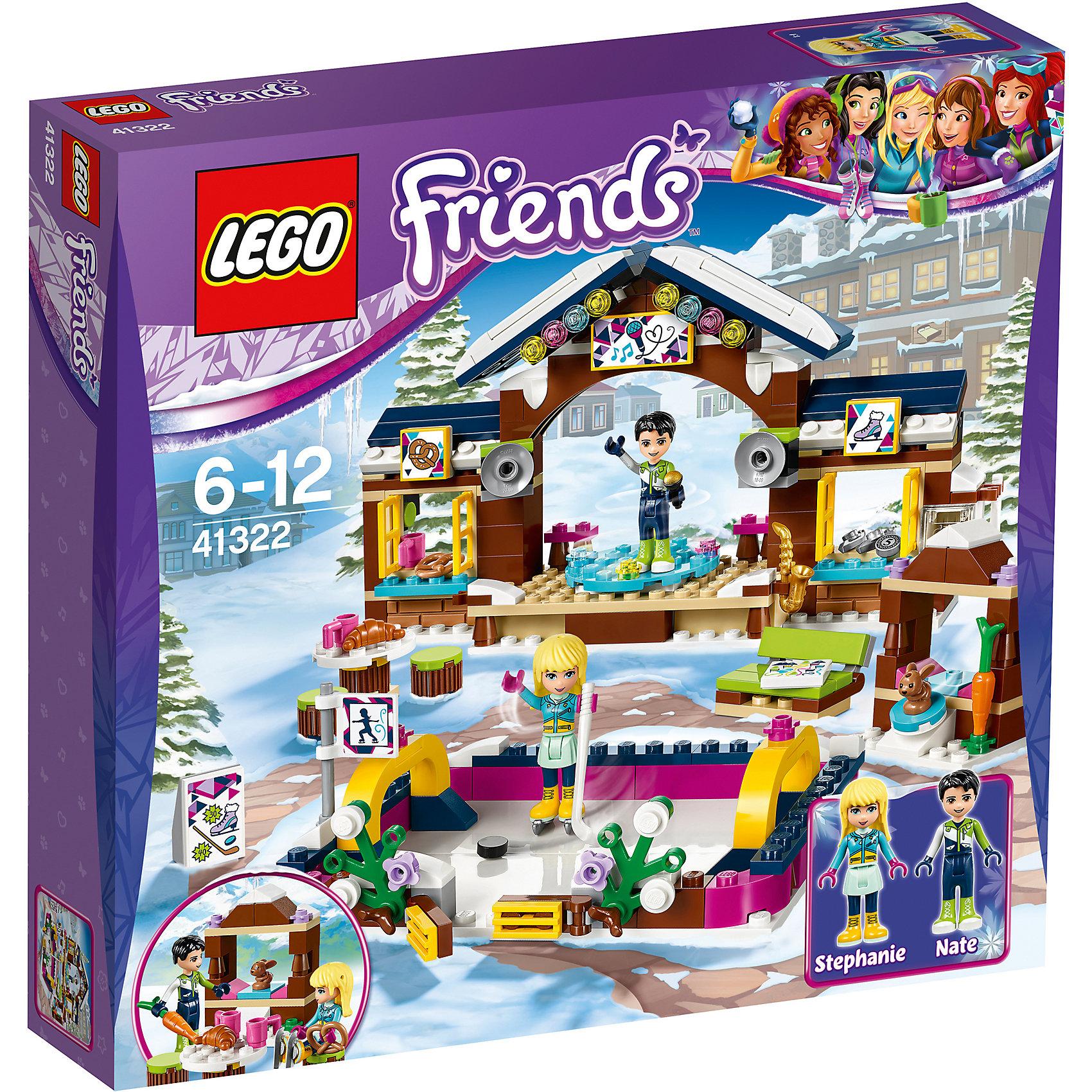 LEGO Friends 41322: Горнолыжный курорт: катокПластмассовые конструкторы<br><br><br>Ширина мм: 279<br>Глубина мм: 261<br>Высота мм: 63<br>Вес г: 476<br>Возраст от месяцев: 72<br>Возраст до месяцев: 144<br>Пол: Женский<br>Возраст: Детский<br>SKU: 5620044