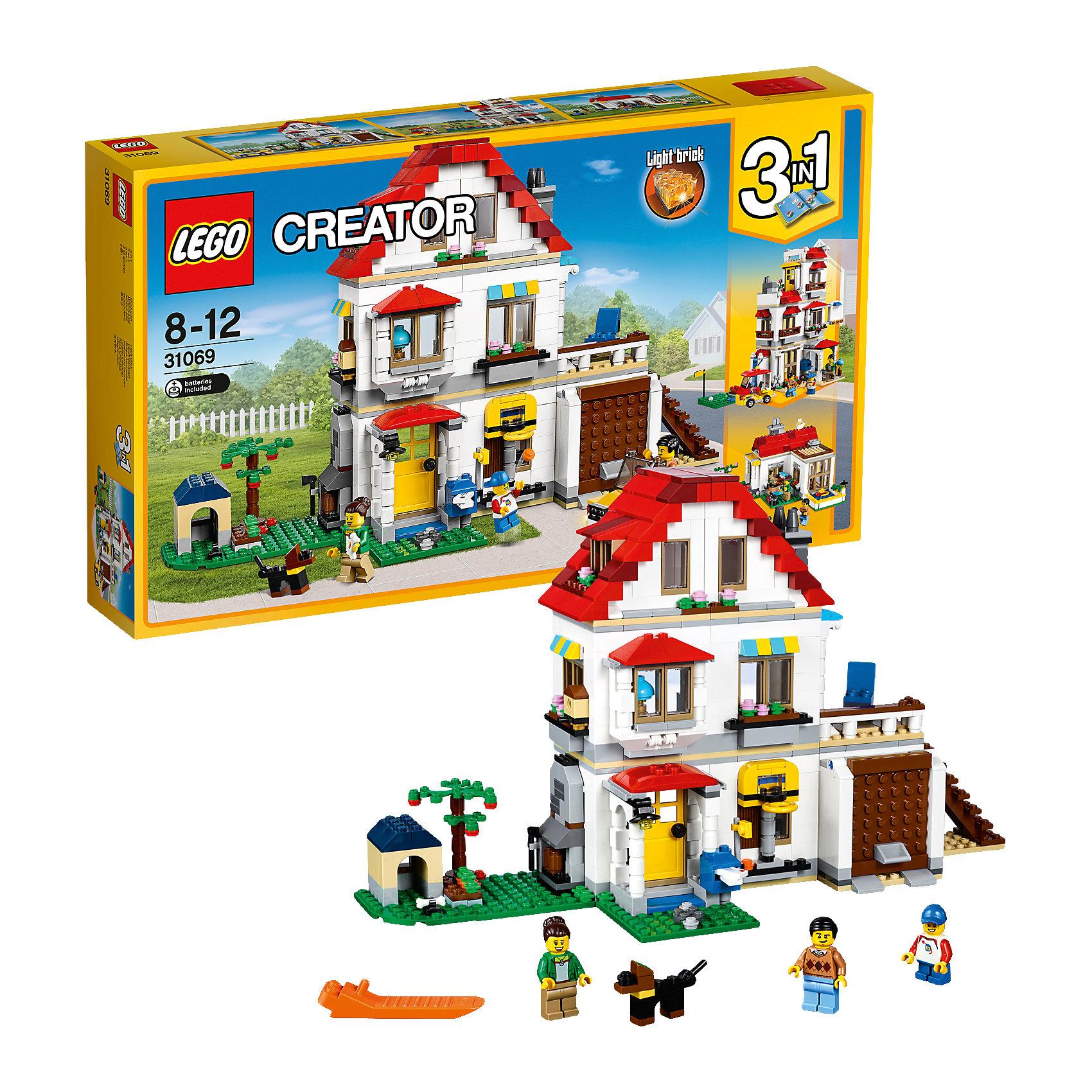 LEGO Creator 31069: Загородный домПластмассовые конструкторы<br><br><br>Ширина мм: 497<br>Глубина мм: 291<br>Высота мм: 81<br>Вес г: 1357<br>Возраст от месяцев: 96<br>Возраст до месяцев: 144<br>Пол: Унисекс<br>Возраст: Детский<br>SKU: 5620054