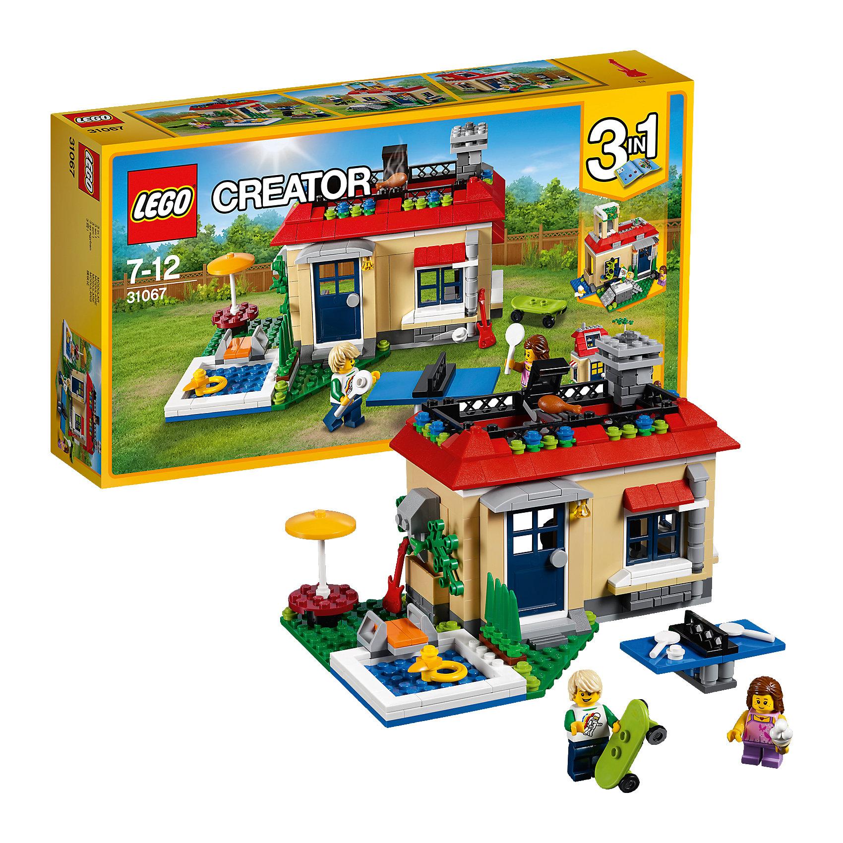 LEGO Creator 31067: Вечеринка у бассейнаПластмассовые конструкторы<br><br><br>Ширина мм: 353<br>Глубина мм: 192<br>Высота мм: 73<br>Вес г: 580<br>Возраст от месяцев: 84<br>Возраст до месяцев: 144<br>Пол: Унисекс<br>Возраст: Детский<br>SKU: 5620056