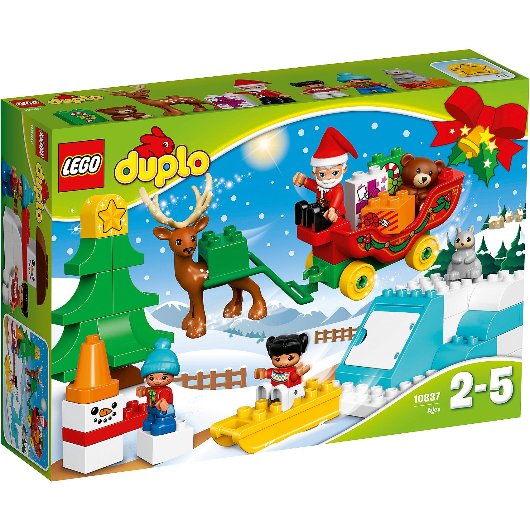 LEGO DUPLO 10837: Новый годКонструкторы для малышей<br><br><br>Ширина мм: 382<br>Глубина мм: 262<br>Высота мм: 94<br>Вес г: 795<br>Возраст от месяцев: 24<br>Возраст до месяцев: 60<br>Пол: Мужской<br>Возраст: Детский<br>SKU: 5620074
