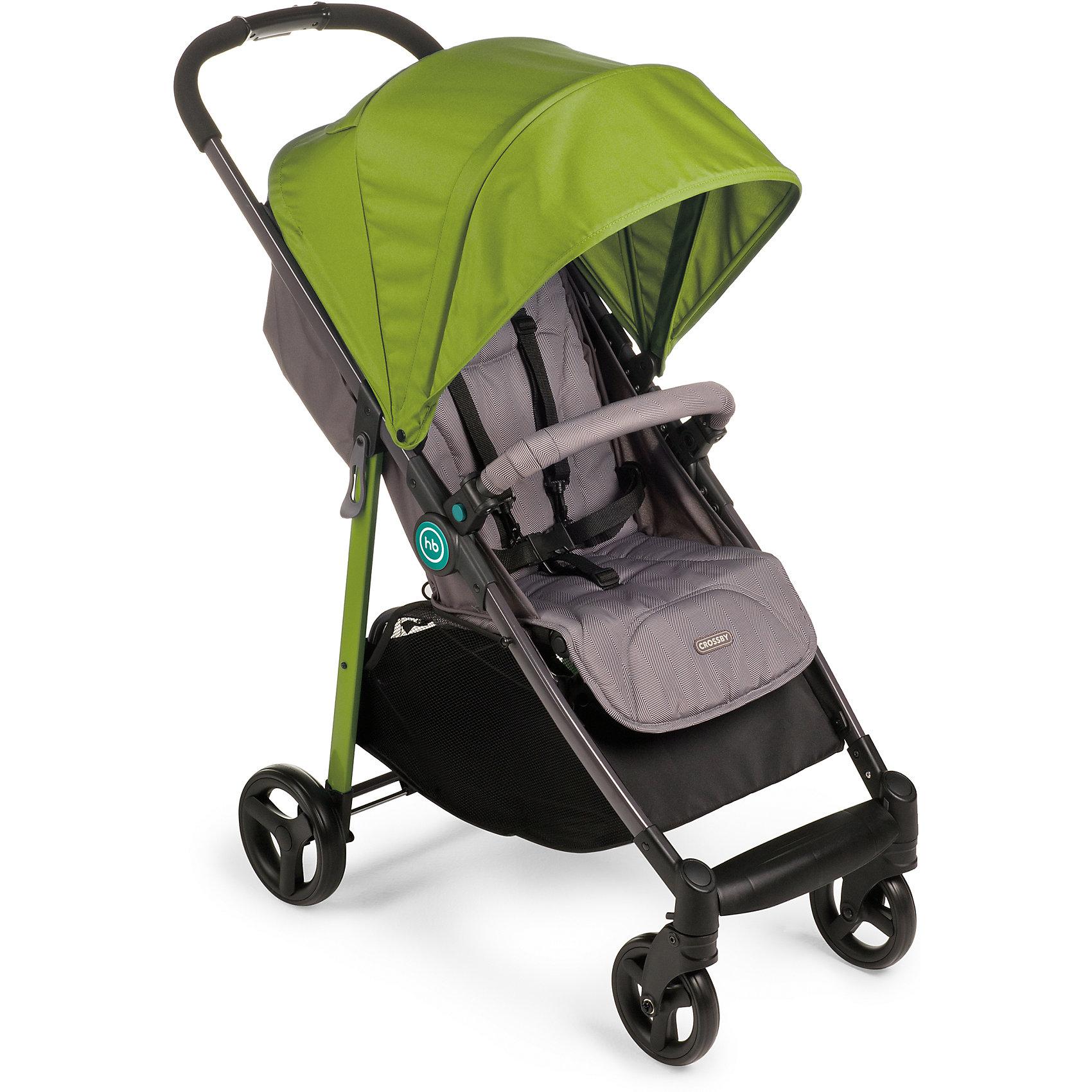 Прогулочная коляска Happy Baby Crossby, зеленыйСезон весна-лето<br>Характеристики коляски<br><br>Прогулочный блок:<br><br>• регулируемый угол наклона спинки, 175 градусов;<br>• регулируемая подножка;<br>• 5-ти точечные ремни безопасности;<br>• бампер обтянут мягкой тканью, отводится в сторону;<br>• капюшон с солнцезащитным козырьком;<br>• капюшон оснащен смотровым клеенчатым окошком под клапаном на липучке;<br>• чехол на ножки защищает от ветра и непогоды;<br>• дождевик и москитная сетка защищают от осадков и насекомых;<br>• корзина для покупок вмещает до 3 кг;<br>• материал: пластик, полиэстер.<br><br>Рама коляски: <br><br>• плавающие передние колеса с ручной фиксацией;<br>• пружинные амортизаторы на передних и задних колесах;<br>• тип складывания: книжка;<br>• тип тормоза – ножной;<br>• коляска складывается одной рукой;<br>• материал рамы: алюминий, колеса - пластиковые.<br><br>Размеры:<br><br>• размер коляски: 96х51х104 см;<br>• размер в сложенном виде: 84х50,5х29 см;<br>• диаметр колес: 15 см, 18 см;<br>• ширина сиденья: 34 см;<br>• глубина сиденья: 23 см;<br>• размер корзины: 31х31х18 см;<br>• вес коляски: 7,7 кг;<br>• размер упаковки: 83х21х45,5 см;<br>• вес в упаковке: 10 кг. <br><br>Прогулочную коляску Crossby, Happy Baby, цвет зеленый можно купить в нашем интернет-магазине.<br><br>Ширина мм: 830<br>Глубина мм: 210<br>Высота мм: 445<br>Вес г: 10050<br>Возраст от месяцев: 7<br>Возраст до месяцев: 36<br>Пол: Унисекс<br>Возраст: Детский<br>SKU: 5620084