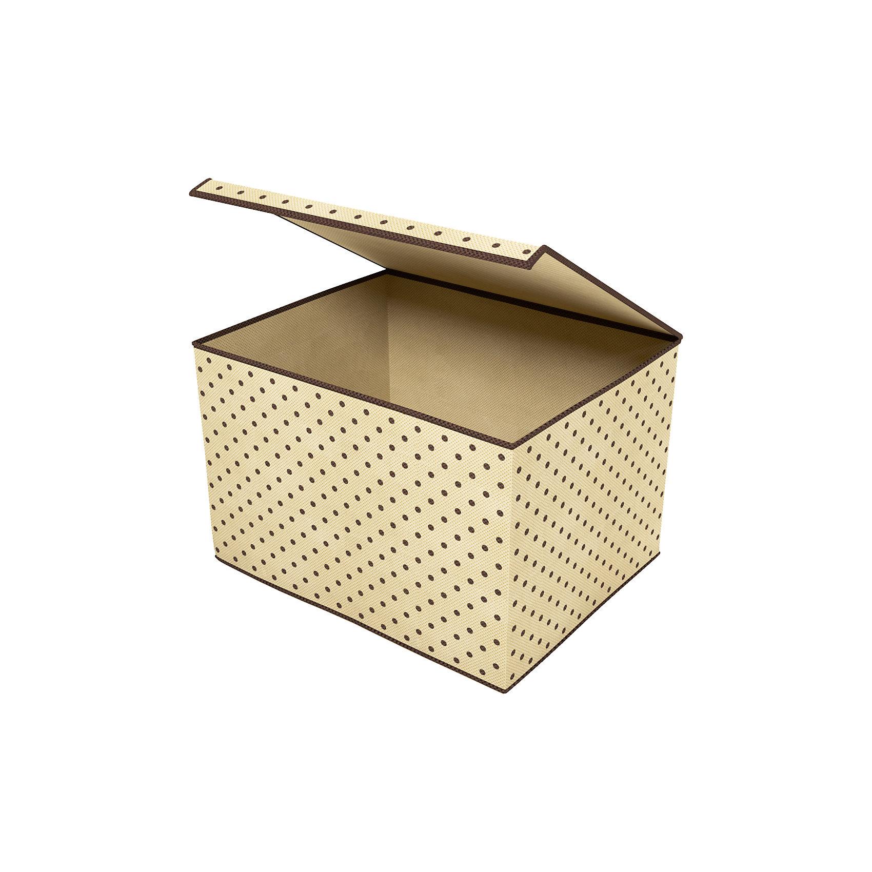 Коробка для хранения вещей с крышкой (38х25х30 см), HomsuПорядок в детской<br>Универсальная коробка для хранения вещей с крышкой. Идеально подходит для хранения одежды, полотенец и других домашних принадлежностей. Выполнена в классическом дизайне, благодаря чему гармонично впишется в любой интерьер.<br><br>Ширина мм: 380<br>Глубина мм: 300<br>Высота мм: 20<br>Вес г: 300<br>Возраст от месяцев: 216<br>Возраст до месяцев: 1188<br>Пол: Унисекс<br>Возраст: Детский<br>SKU: 5620092