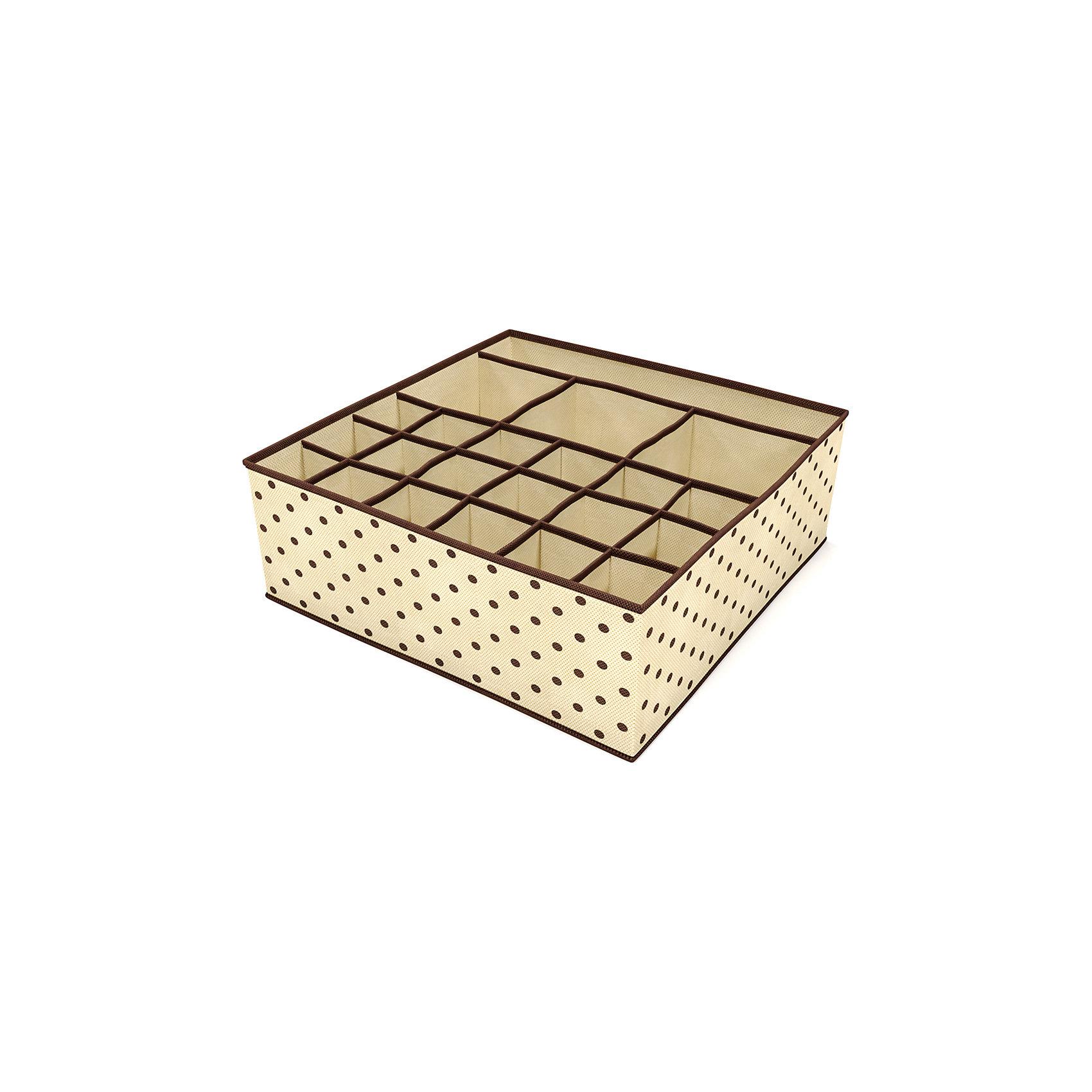 Мульти-органайзер для нижнего белья и аксессуаров, HomsuПорядок в детской<br>Органайзер имеет 18 ячеек, 3 квадратных секции и одну продольную секцию. Идеально подходит для хранения нижнего белья и аксессуаров. Выполнен в универсальном дизайне, благодаря чему гармонично впишется в любой интерьер.<br><br>Ширина мм: 580<br>Глубина мм: 110<br>Высота мм: 20<br>Вес г: 150<br>Возраст от месяцев: 216<br>Возраст до месяцев: 1188<br>Пол: Женский<br>Возраст: Детский<br>SKU: 5620095