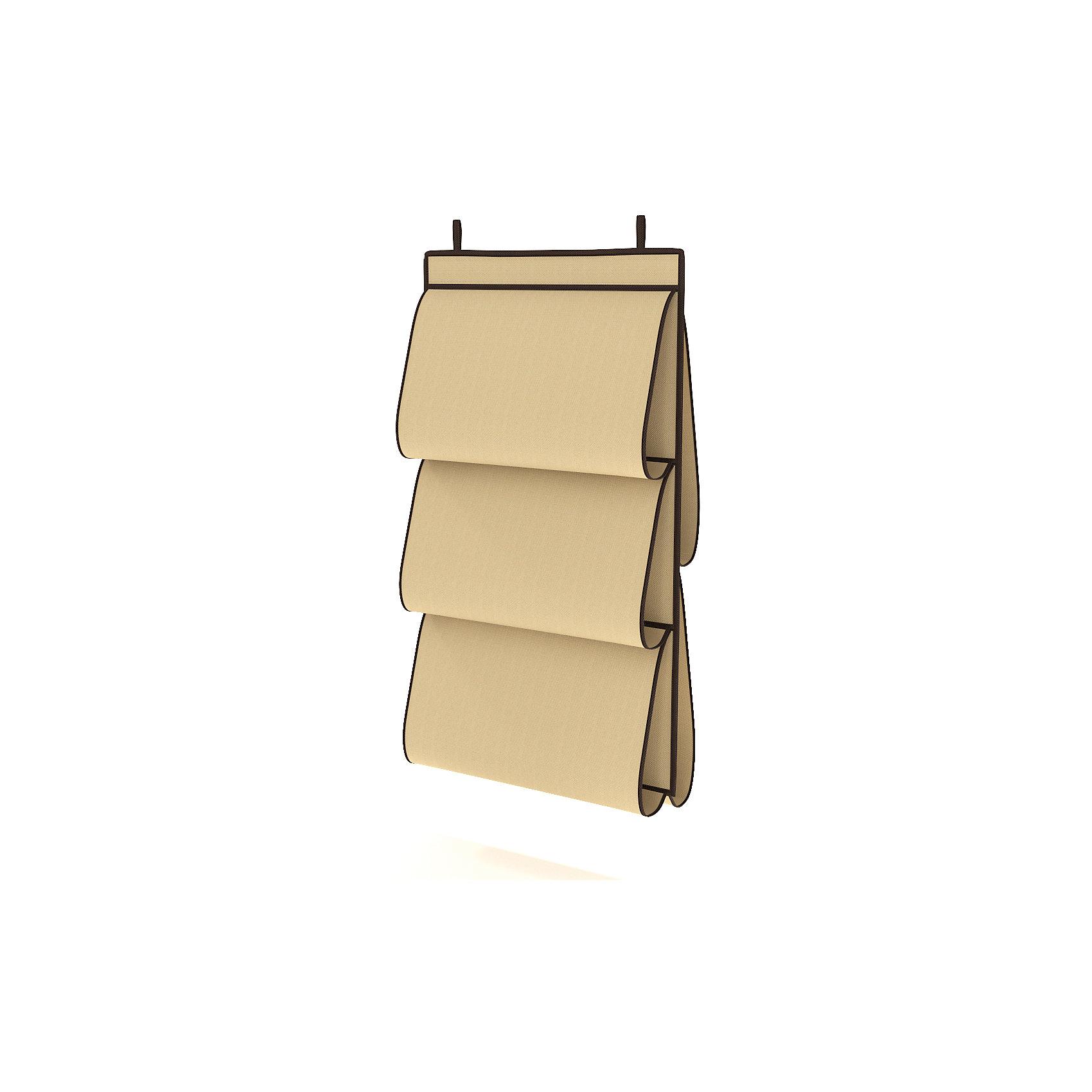 Органайзер для сумок в шкаф, HomsuПорядок в детской<br>Характеристики товара:<br><br>• цвет: бежевый<br>• материал: полиэстер<br>• размер: 70х40х2 см.<br>• вес: 300 гр.<br>• застежка: молния<br>• крепление: крючок<br>• ручка для переноски<br>• вместимость: 5 отделений<br>• страна бренда: Россия<br>• страна изготовитель: Китай<br><br>Органайзер для сумок в шкаф, Homsu (Хомсу) - очень удобная вещь для хранения вещей и эргономичной организации пространства.<br><br>Он состоит из пяти отделений, легко крепится на стену, дверь или внутрь шкафов.<br><br>Органайзер для сумок в шкаф, Homsu можно купить в нашем интернет-магазине.<br><br>Ширина мм: 150<br>Глубина мм: 400<br>Высота мм: 20<br>Вес г: 300<br>Возраст от месяцев: 216<br>Возраст до месяцев: 1188<br>Пол: Унисекс<br>Возраст: Детский<br>SKU: 5620100
