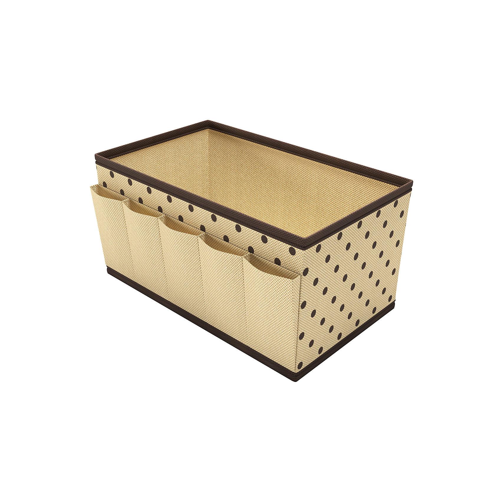Органайзер на стол для косметики и украшений, HomsuПорядок в детской<br>Характеристики товара:<br><br>• цвет: бежевый<br>• материал: полиэстер, картон<br>• размер: 25х15х13 см<br>• вес: 100 г<br>• легкий прочный каркас<br>• обеспечивает естественную вентиляцию<br>• вместимость: 6 отделений<br>• страна бренда: Россия<br>• страна изготовитель: Китай<br><br>Органайзер на стол для косметики и украшений от бренда Homsu (Хомсу) - очень удобная вещь для хранения вещей и эргономичной организации пространства.<br><br>Предмет легкий, устойчивый, вместительный, обеспечивает естественную вентиляцию.<br><br>Органайзер на стол для косметики и украшений, Homsu можно купить в нашем интернет-магазине.<br><br>Ширина мм: 250<br>Глубина мм: 150<br>Высота мм: 20<br>Вес г: 100<br>Возраст от месяцев: 216<br>Возраст до месяцев: 1188<br>Пол: Унисекс<br>Возраст: Детский<br>SKU: 5620102