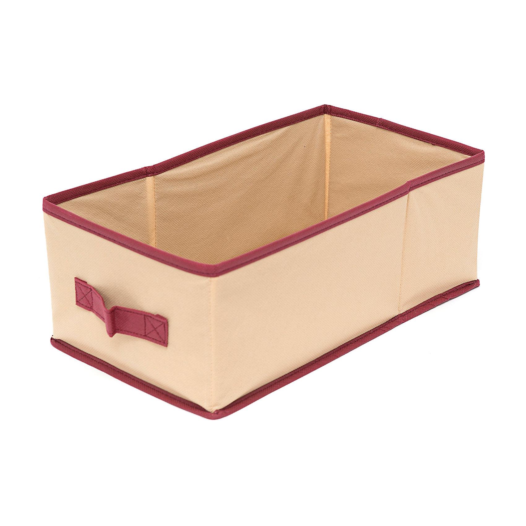 Большой ящик с ручкой Comfort (37*20*14), HomsuПорядок в детской<br>Характеристики товара:<br><br>• цвет: бежевый<br>• материал: спанбонд, картон, ПВХ<br>• размер: 37х20х14 см<br>• вес: 300 г<br>• легкий прочный каркас<br>• ручка для переноски<br>• вместимость: 1 отделение<br>• страна бренда: Россия<br>• страна изготовитель: Китай<br><br>Большой ящик с ручкой Comfort от бренда Homsu (Хомсу) - очень удобная вещь для хранения вещей и эргономичной организации пространства.<br><br>Он легкий, устойчивый, вместительный, имеет удобную ручку для переноски.<br><br>Большой ящик с ручкой Comfort (37*20*14), Homsu можно купить в нашем интернет-магазине.<br><br>Ширина мм: 350<br>Глубина мм: 200<br>Высота мм: 20<br>Вес г: 300<br>Возраст от месяцев: 216<br>Возраст до месяцев: 1188<br>Пол: Унисекс<br>Возраст: Детский<br>SKU: 5620112