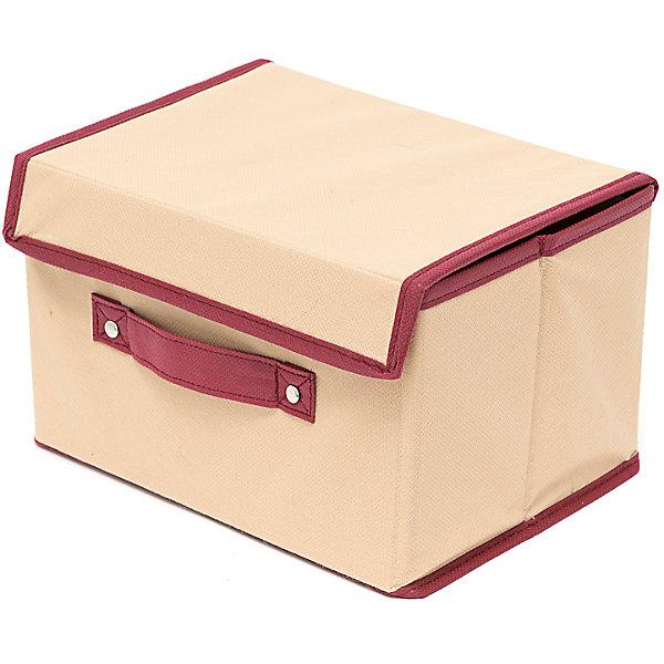 Коробка с крышкой Comfort (38*25*25), HomsuОрганайзеры для одежды<br>Характеристики товара:<br><br>• цвет: бежевый<br>• материал: спанбонд, картон<br>• размер: 38х25х25 см<br>• вес: 300 г<br>• легкий прочный каркас<br>• застежка: липучка<br>• крышка<br>• ручка для переноски<br>• вместимость: 1 отделение<br>• страна бренда: Россия<br>• страна изготовитель: Китай<br><br>Коробка с крышкой Comfort большую от бренда Homsu (Хомсу) - очень удобная вещь для хранения вещей и эргономичной организации пространства.<br><br>Предмет легкий, устойчивый, вместительный, имеет удобную ручку для переноски.<br><br>Коробку с крышкой большую Comfort (38*25*25), Homsu можно купить в нашем интернет-магазине.<br><br>Ширина мм: 380<br>Глубина мм: 250<br>Высота мм: 40<br>Вес г: 300<br>Возраст от месяцев: 216<br>Возраст до месяцев: 1188<br>Пол: Унисекс<br>Возраст: Детский<br>SKU: 5620113