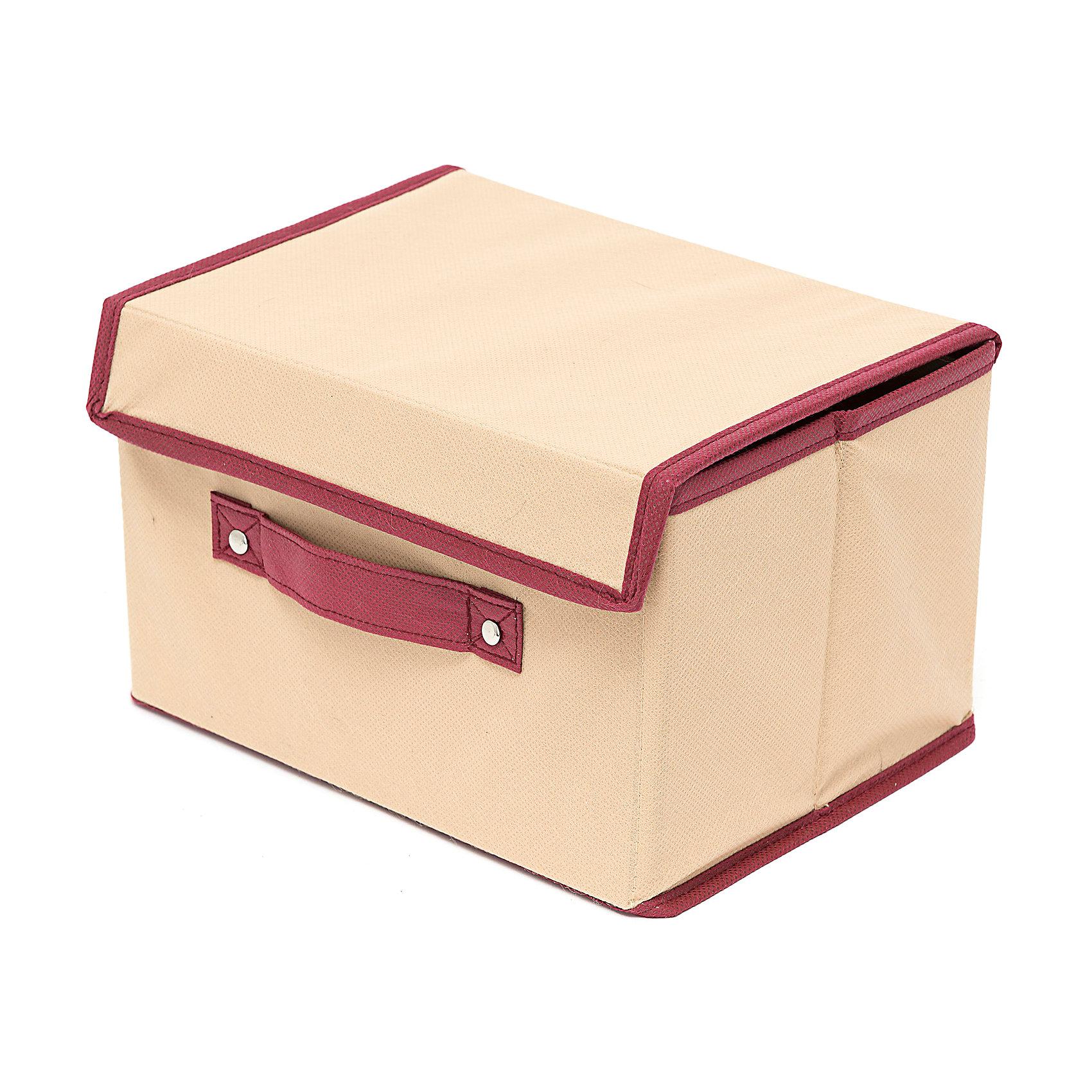 Коробка с крышкой Comfort (38*25*25), HomsuПорядок в детской<br>Характеристики товара:<br><br>• цвет: бежевый<br>• материал: спанбонд, картон<br>• размер: 38х25х25 см<br>• вес: 300 г<br>• легкий прочный каркас<br>• застежка: липучка<br>• крышка<br>• ручка для переноски<br>• вместимость: 1 отделение<br>• страна бренда: Россия<br>• страна изготовитель: Китай<br><br>Коробка с крышкой Comfort большую от бренда Homsu (Хомсу) - очень удобная вещь для хранения вещей и эргономичной организации пространства.<br><br>Предмет легкий, устойчивый, вместительный, имеет удобную ручку для переноски.<br><br>Коробку с крышкой большую Comfort (38*25*25), Homsu можно купить в нашем интернет-магазине.<br><br>Ширина мм: 380<br>Глубина мм: 250<br>Высота мм: 40<br>Вес г: 300<br>Возраст от месяцев: 216<br>Возраст до месяцев: 1188<br>Пол: Унисекс<br>Возраст: Детский<br>SKU: 5620113