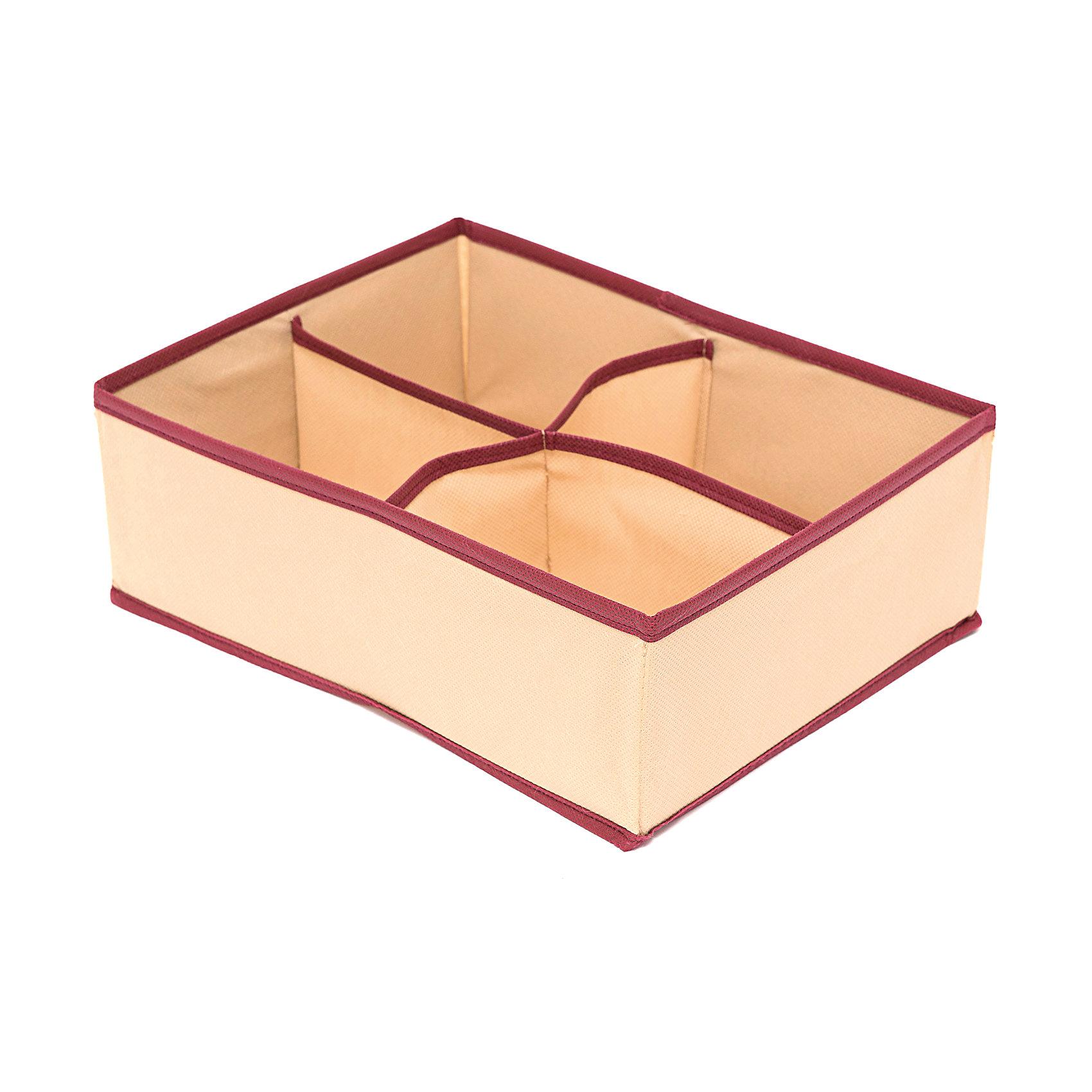 Органайзер на 4 секции Comfort (31*24*11), HomsuПорядок в детской<br>Прямоугольный, плоский органайзер имеет 4 раздельных ячейки, очень удобен для хранения вещей среднего размера в вашем ящике или на полке. Идеально для белья, шапок, рукавиц и других вещей ежедневного пользования. Имеет жесткие борта, что является гарантией сохранности вещей.<br><br>Ширина мм: 530<br>Глубина мм: 110<br>Высота мм: 20<br>Вес г: 200<br>Возраст от месяцев: 216<br>Возраст до месяцев: 1188<br>Пол: Унисекс<br>Возраст: Детский<br>SKU: 5620115