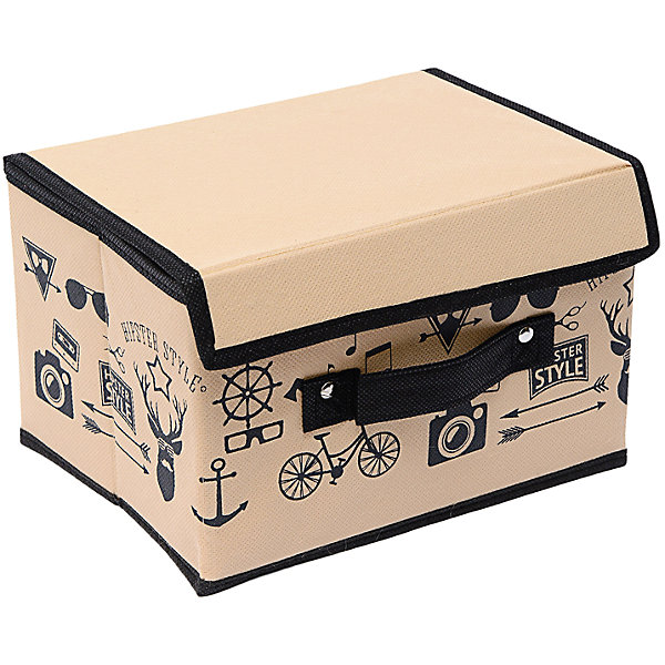 Коробка с крышкой (19*25*16) Hipster Style, HomsuОрганайзеры для одежды<br>Характеристики товара:<br><br>• цвет: бежевый<br>• материал: спанбонд, картон<br>• размер: 19х25х16 см<br>• вес: 200 г<br>• легкий прочный каркас<br>• застежка: липучка<br>• крышка<br>• ручка для переноски<br>• вместимость: 1 отделение<br>• страна бренда: Россия<br>• страна изготовитель: Китай<br><br>Коробка с крышкой Hipster Style от бренда Homsu (Хомсу) - очень удобная вещь для хранения вещей и эргономичной организации пространства.<br><br>Предмет легкий, устойчивый, вместительный, имеет удобную ручку для переноски.<br><br>Коробку с крышкой Hipster Style (19*25*16), Homsu можно купить в нашем интернет-магазине.<br><br>Ширина мм: 190<br>Глубина мм: 250<br>Высота мм: 20<br>Вес г: 200<br>Возраст от месяцев: 216<br>Возраст до месяцев: 1188<br>Пол: Унисекс<br>Возраст: Детский<br>SKU: 5620127