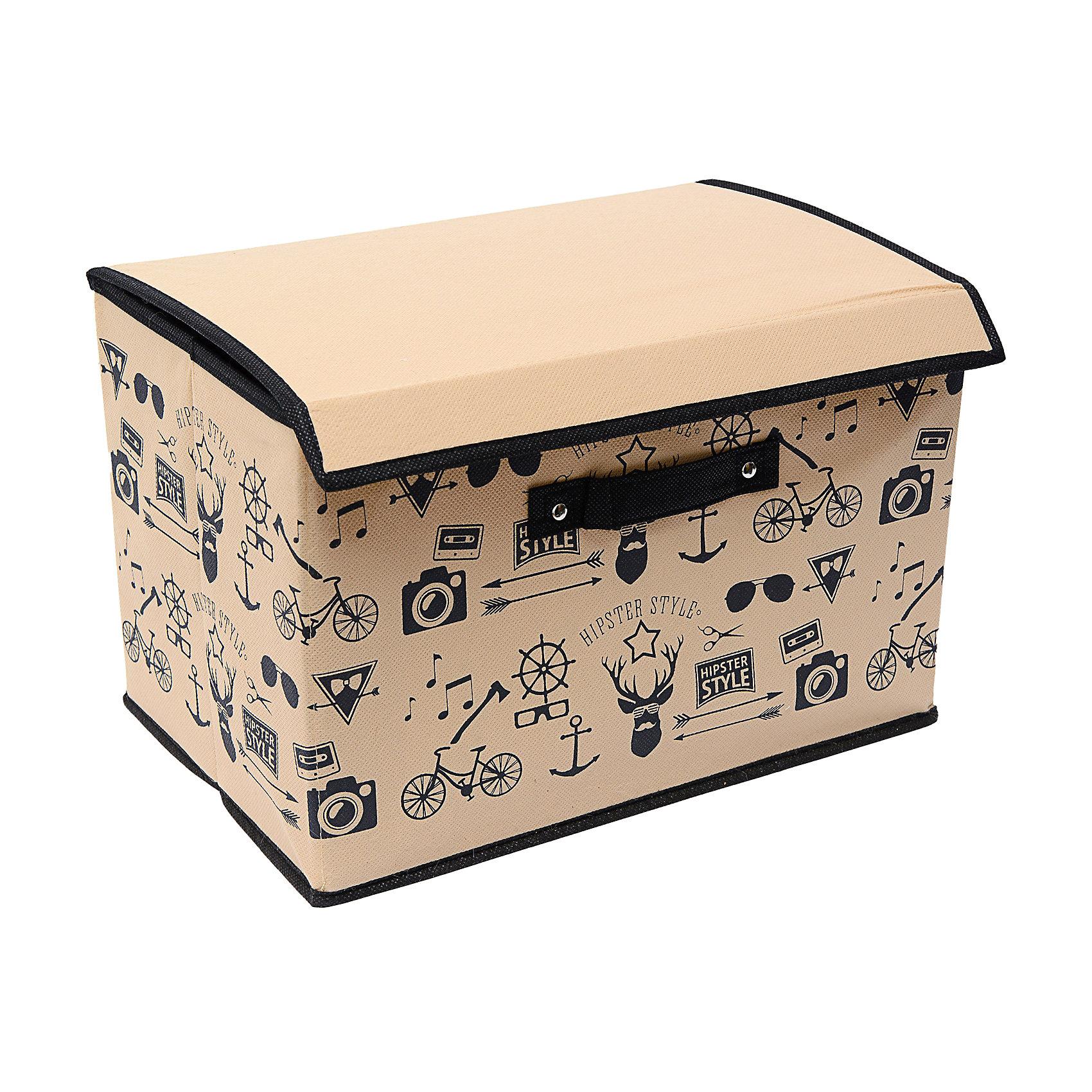 Коробка с крышкой большая (38*25*25) Hipster Style, HomsuПорядок в детской<br>Универсальная коробочка для хранения любых вещей. Оптимальный размер позволяет хранить в ней любые вещи и предметы. Идеально подходит в шкафы Экспедит от Икея.<br><br>Ширина мм: 380<br>Глубина мм: 250<br>Высота мм: 40<br>Вес г: 300<br>Возраст от месяцев: 216<br>Возраст до месяцев: 1188<br>Пол: Унисекс<br>Возраст: Детский<br>SKU: 5620128