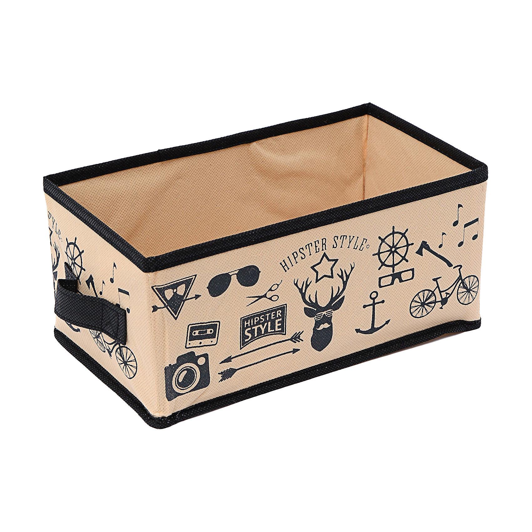 Малый ящик с ручкой (28*14*13) Hipster Style, HomsuПорядок в детской<br>Характеристики товара:<br><br>• цвет: бежевый<br>• материал: спанбонд, картон, ПВХ<br>• размер: 28х14х13 см<br>• вес: 200 г<br>• легкий прочный каркас<br>• ручка для переноски<br>• вместимость: 1 отделение<br>• страна бренда: Россия<br>• страна изготовитель: Китай<br><br>Малый ящик с ручкой Hipster Style от бренда Homsu (Хомсу) - очень удобная вещь для хранения вещей и эргономичной организации пространства.<br><br>Он легкий, устойчивый, вместительный, имеет удобную ручку для переноски.<br><br>Малый ящик с ручкой Hipster Style (28*14*13), Homsu можно купить в нашем интернет-магазине.<br><br>Ширина мм: 450<br>Глубина мм: 150<br>Высота мм: 20<br>Вес г: 200<br>Возраст от месяцев: 216<br>Возраст до месяцев: 1188<br>Пол: Унисекс<br>Возраст: Детский<br>SKU: 5620129