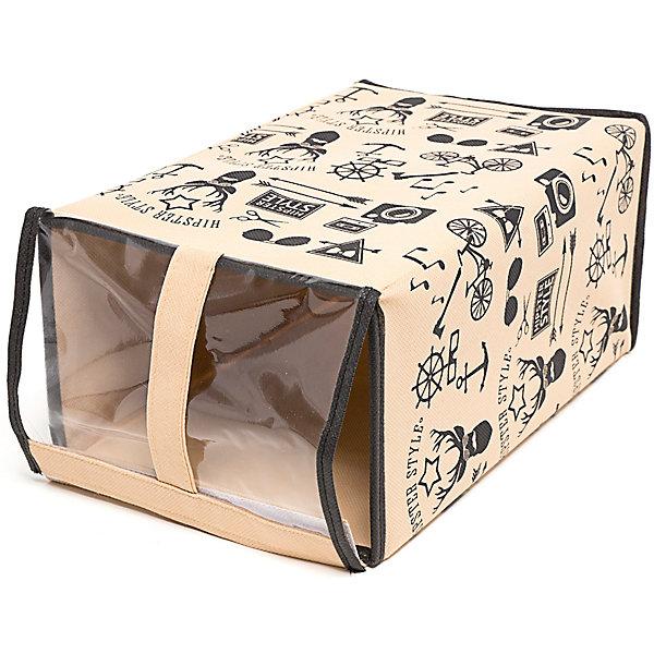 Обувная коробка Hipster Style (33*22*16), HomsuКоробки для обуви<br>Характеристики товара:<br><br>• цвет: бежевый<br>• материал: спанбонд, картон, ПВХ<br>• размер: 33х22х16 см<br>• вес: 300 г<br>• прозрачная крышка<br>• ручка для переноски<br>• вместимость: 1 отделение<br>• страна бренда: Россия<br>• страна изготовитель: Китай<br><br>Обувная коробка Hipster Style от бренда Homsu (Хомсу) - очень удобная вещь для хранения вещей и эргономичной организации пространства.<br><br>Предмет легкий, устойчивый, вместительный, имеет удобную ручку для переноски.<br><br>Обувную коробку Hipster Style (33*22*16), Homsu можно купить в нашем интернет-магазине.<br>Ширина мм: 360; Глубина мм: 330; Высота мм: 20; Вес г: 300; Возраст от месяцев: 216; Возраст до месяцев: 1188; Пол: Унисекс; Возраст: Детский; SKU: 5620130;