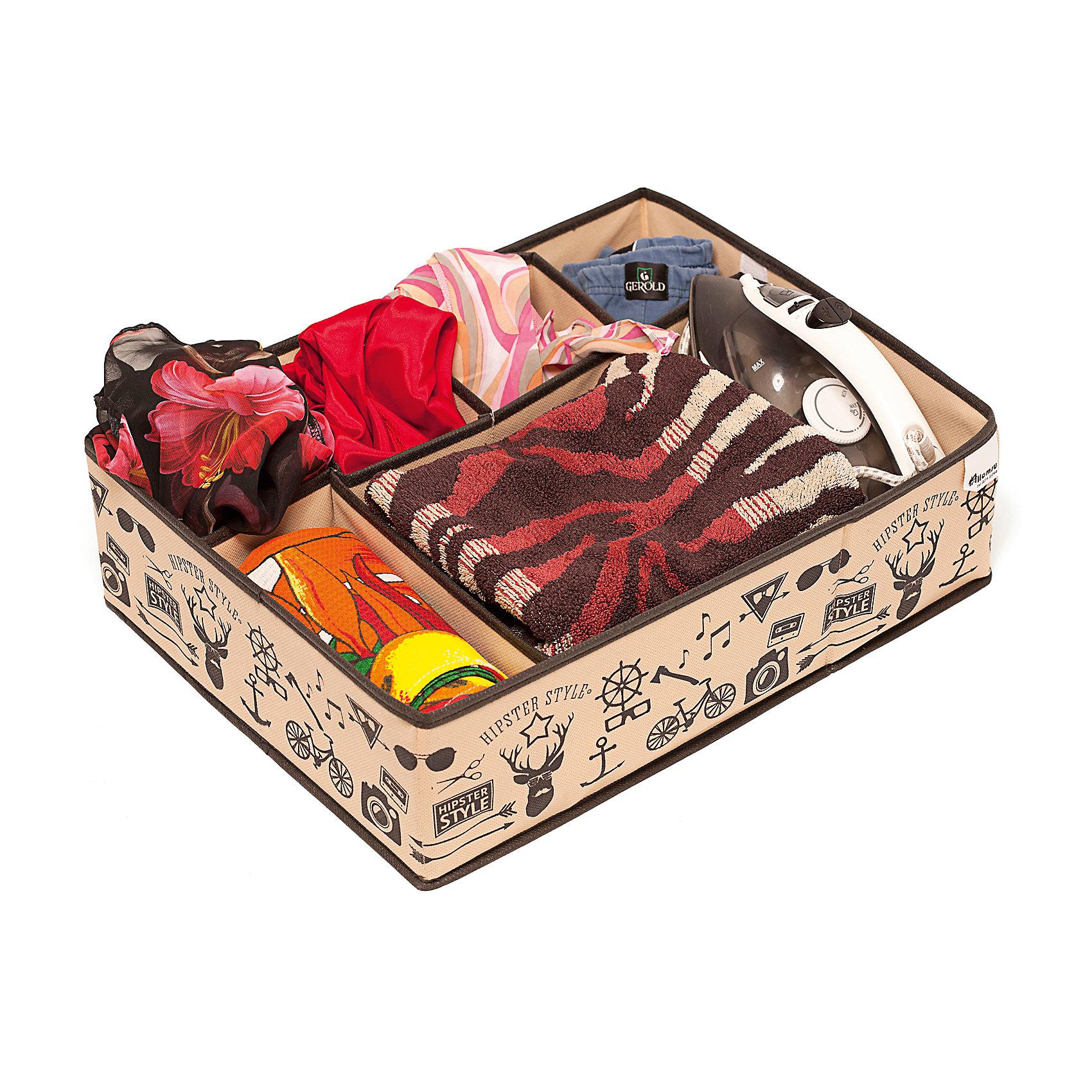 Органайзер для вещей Hipster Style (44*34*11), HomsuПорядок в детской<br>Супер универсальный органайзер с секциями разного размера наведет порядок в любом ящике комода или на полке. Благодаря размерам ячеек, вы легко сможете хранить в нем вещи такие, как футболки, нижнее белье, носки, шапки и многое другое. Имеет жесткие борта, что является гарантией сохранности вещей. Подходит в шкафы Били от Икея.<br><br>Ширина мм: 460<br>Глубина мм: 300<br>Высота мм: 20<br>Вес г: 300<br>Возраст от месяцев: 216<br>Возраст до месяцев: 1188<br>Пол: Унисекс<br>Возраст: Детский<br>SKU: 5620132