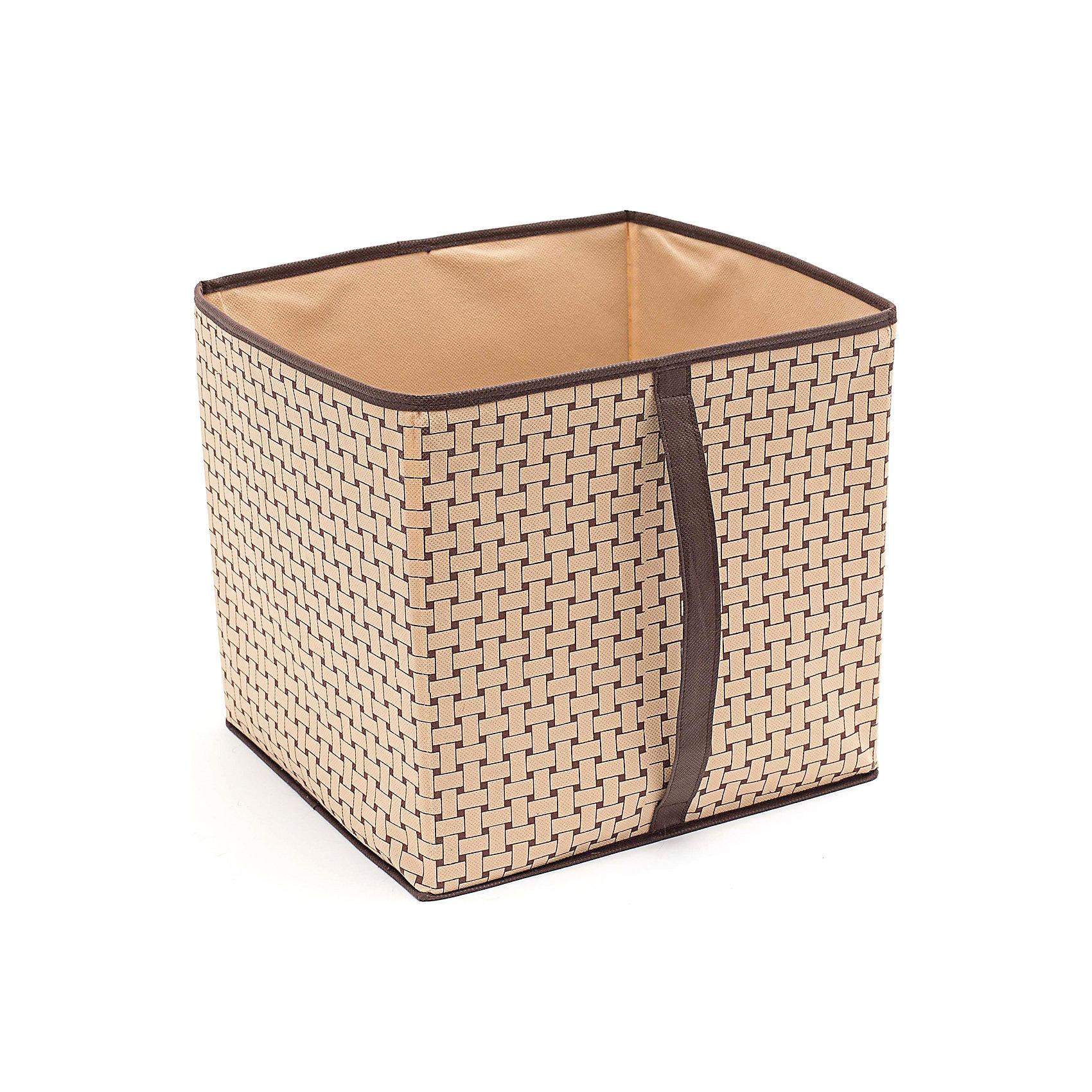 Короб большой для вещей Pletenka (30*33*32), HomsuПорядок в детской<br>Характеристики товара:<br><br>• цвет: бежевый<br>• материал: спанбонд, картон, ПВХ<br>• размер: 30х33х32 см<br>• вес: 400 г<br>• легкий прочный каркас<br>• ручка для переноски<br>• вместимость: 1 отделение<br>• страна бренда: Россия<br>• страна изготовитель: Китай<br><br>Короб большой для вещей Pletenka от бренда Homsu (Хомсу) - очень удобная вещь для хранения вещей и эргономичной организации пространства.<br><br>Он легкий, устойчивый, вместительный, имеет удобную ручку для переноски.<br><br>Короб большой для вещей Pletenka (30*33*32), Homsu можно купить в нашем интернет-магазине.<br><br>Ширина мм: 620<br>Глубина мм: 330<br>Высота мм: 20<br>Вес г: 400<br>Возраст от месяцев: 216<br>Возраст до месяцев: 1188<br>Пол: Унисекс<br>Возраст: Детский<br>SKU: 5620145