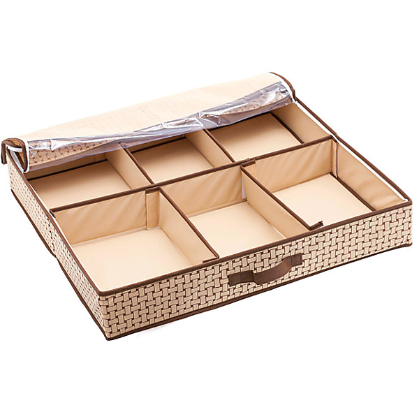 Органайзер для обуви Pletenka Smart Shoes (66*63*11), HomsuКоробки для обуви<br>Характеристики товара:<br><br>• цвет: бежевый<br>• материал: спанбонд, картон, ПВХ<br>• размер: 66х63х11 см<br>• вес: 1,2 кг<br>• легкий прочный каркас<br>• застежка: молния<br>• прозрачная крышка<br>• ручка для переноски<br>• вместимость: 6 отделений<br>• страна бренда: Россия<br>• страна изготовитель: Китай<br><br>Органайзер для обуви Pletenka Smart Shoes от бренда Homsu (Хомсу) - очень удобная вещь для хранения вещей и эргономичной организации пространства.<br><br>Он легкий, устойчивый, вместительный, имеет удобную ручку для переноски.<br><br>Органайзер для обуви Pletenka Smart Shoes (66*63*11), Homsu можно купить в нашем интернет-магазине.<br><br>Ширина мм: 670<br>Глубина мм: 330<br>Высота мм: 20<br>Вес г: 1200<br>Возраст от месяцев: 216<br>Возраст до месяцев: 1188<br>Пол: Унисекс<br>Возраст: Детский<br>SKU: 5620150