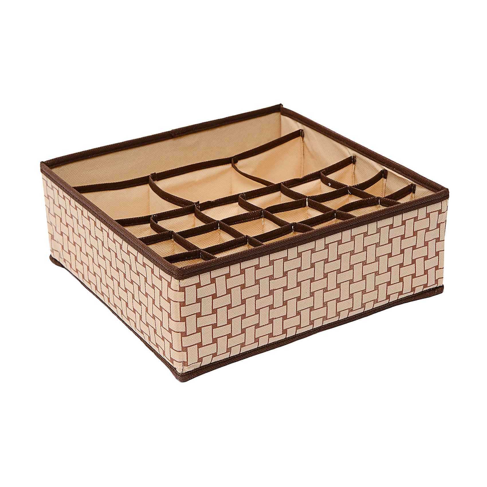 Органайзер на 18+3+1 (30*30*11) Pletenka, HomsuПорядок в детской<br>Характеристики товара:<br><br>• цвет: бежевый<br>• материал: спанбонд, картон, ПВХ<br>• размер: 30х30х11 см<br>• вес: 200 г<br>• легкий прочный каркас<br>• обеспечивает естественную вентиляцию<br>• вместимость: 22 отделения<br>• страна бренда: Россия<br>• страна изготовитель: Китай<br><br>Органайзер на 18+3+1 Pletenka от бренда Homsu (Хомсу) - очень удобная вещь для хранения вещей и эргономичной организации пространства.<br><br>Он легкий, устойчивый, вместительный, обеспечивает естественную вентиляцию.<br><br>Органайзер на 18+3+1 Pletenka (30*30*11), Homsu можно купить в нашем интернет-магазине.<br><br>Ширина мм: 530<br>Глубина мм: 110<br>Высота мм: 20<br>Вес г: 200<br>Возраст от месяцев: 216<br>Возраст до месяцев: 1188<br>Пол: Унисекс<br>Возраст: Детский<br>SKU: 5620153