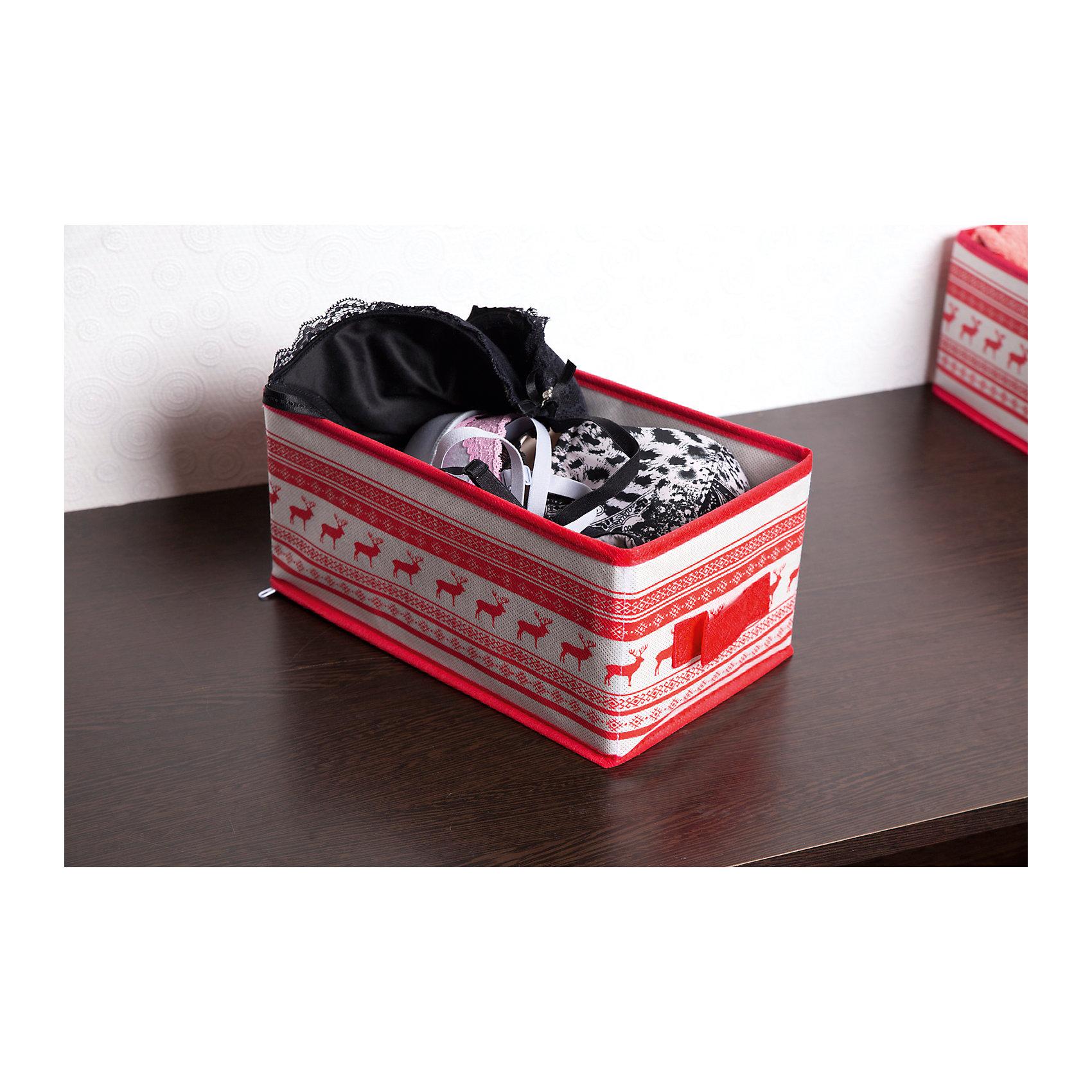 Малый ящик с ручкой Scandinavia (28*14*13), HomsuПорядок в детской<br>Характеристики товара:<br><br>• цвет: красный<br>• материал: спанбонд, картон, ПВХ<br>• размер: 28х14х13 см<br>• вес: 200 г<br>• легкий прочный каркас<br>• ручка для переноски<br>• вместимость: 1 отделение<br>• страна бренда: Россия<br>• страна изготовитель: Китай<br><br>Малый ящик с ручкой Scandinavia от бренда Homsu (Хомсу) - очень удобная вещь для хранения вещей и эргономичной организации пространства.<br><br>Он легкий, устойчивый, вместительный, имеет удобную ручку для переноски.<br><br>Малый ящик с ручкой Scandinavia (28*14*13), Homsu можно купить в нашем интернет-магазине.<br><br>Ширина мм: 450<br>Глубина мм: 150<br>Высота мм: 20<br>Вес г: 200<br>Возраст от месяцев: 216<br>Возраст до месяцев: 1188<br>Пол: Унисекс<br>Возраст: Детский<br>SKU: 5620163