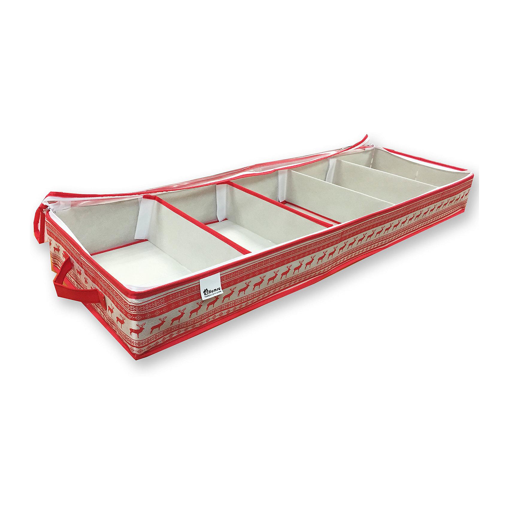 Органайзер для обуви Scandinavia (100*32*11), HomsuПорядок в детской<br>Характеристики товара:<br><br>• цвет: красный<br>• материал: спанбонд, картон, ПВХ<br>• размер: 100х32х11 см<br>• вес: 1,2 кг<br>• легкий прочный каркас<br>• ручка для переноски<br>• вместимость: 5 отделений<br>• страна бренда: Россия<br>• страна изготовитель: Китай<br><br>Органайзер для обуви Scandinavia от бренда Homsu (Хомсу) - очень удобная вещь для хранения вещей и эргономичной организации пространства.<br><br>Он легкий, устойчивый, вместительный, имеет удобную ручку для переноски.<br><br>Органайзер для обуви Scandinavia (100*32*11), Homsu можно купить в нашем интернет-магазине.<br><br>Ширина мм: 1030<br>Глубина мм: 170<br>Высота мм: 30<br>Вес г: 1200<br>Возраст от месяцев: 216<br>Возраст до месяцев: 1188<br>Пол: Унисекс<br>Возраст: Детский<br>SKU: 5620165