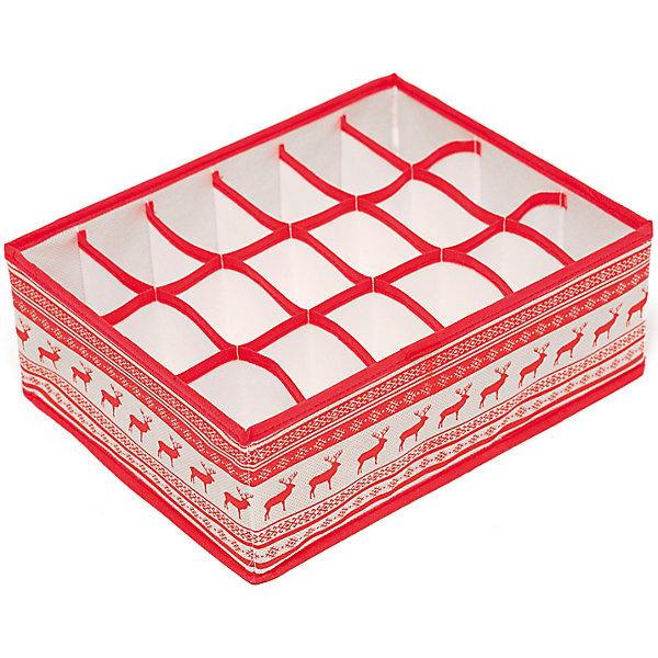 Органайзер на 18 секций Scandinavia (31*24*11), HomsuОрганайзеры для одежды<br>Характеристики товара:<br><br>• цвет: красный<br>• материал: спанбонд, картон<br>• размер: 31х24х11 см<br>• вес: 200 г<br>• легкий прочный каркас<br>• обеспечивает естественную вентиляцию<br>• вместимость: 18 отделений<br>• страна бренда: Россия<br>• страна изготовитель: Китай<br><br>Органайзер на 18 секций Scandinavia от бренда Homsu (Хомсу) - очень удобная вещь для хранения вещей и эргономичной организации пространства.<br><br>Он легкий, устойчивый, вместительный, обеспечивает естественную вентиляцию.<br><br>Органайзер на 18 секций Scandinavia (31*24*11), Homsu можно купить в нашем интернет-магазине.<br><br>Ширина мм: 530<br>Глубина мм: 110<br>Высота мм: 20<br>Вес г: 200<br>Возраст от месяцев: 216<br>Возраст до месяцев: 1188<br>Пол: Унисекс<br>Возраст: Детский<br>SKU: 5620166