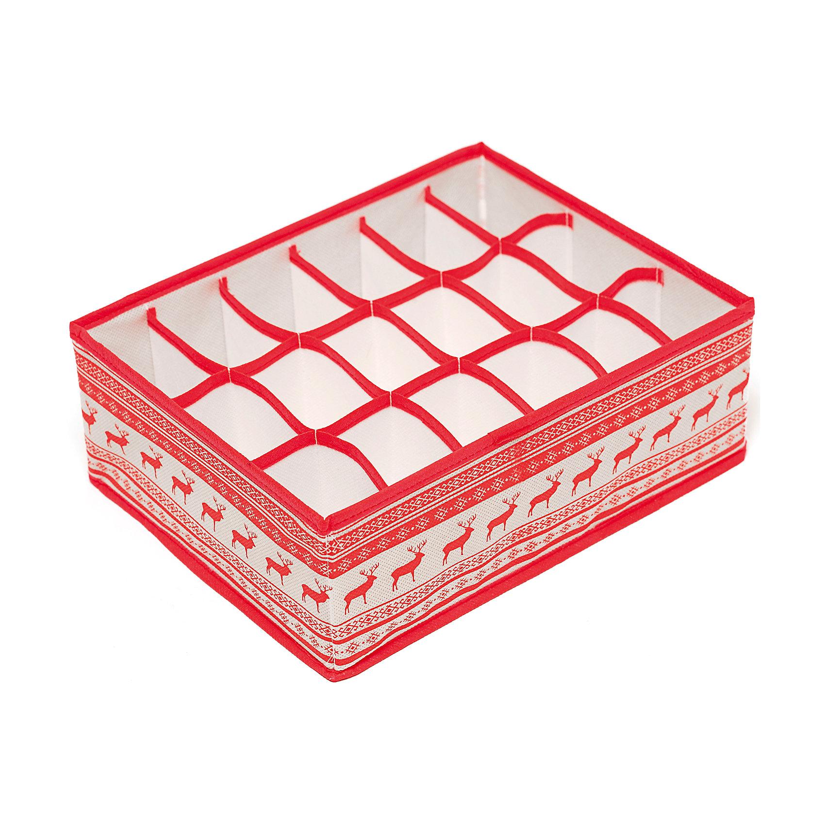 Органайзер на 18 секций Scandinavia (31*24*11), HomsuПорядок в детской<br>Характеристики товара:<br><br>• цвет: красный<br>• материал: спанбонд, картон<br>• размер: 31х24х11 см<br>• вес: 200 г<br>• легкий прочный каркас<br>• обеспечивает естественную вентиляцию<br>• вместимость: 18 отделений<br>• страна бренда: Россия<br>• страна изготовитель: Китай<br><br>Органайзер на 18 секций Scandinavia от бренда Homsu (Хомсу) - очень удобная вещь для хранения вещей и эргономичной организации пространства.<br><br>Он легкий, устойчивый, вместительный, обеспечивает естественную вентиляцию.<br><br>Органайзер на 18 секций Scandinavia (31*24*11), Homsu можно купить в нашем интернет-магазине.<br><br>Ширина мм: 530<br>Глубина мм: 110<br>Высота мм: 20<br>Вес г: 200<br>Возраст от месяцев: 216<br>Возраст до месяцев: 1188<br>Пол: Унисекс<br>Возраст: Детский<br>SKU: 5620166