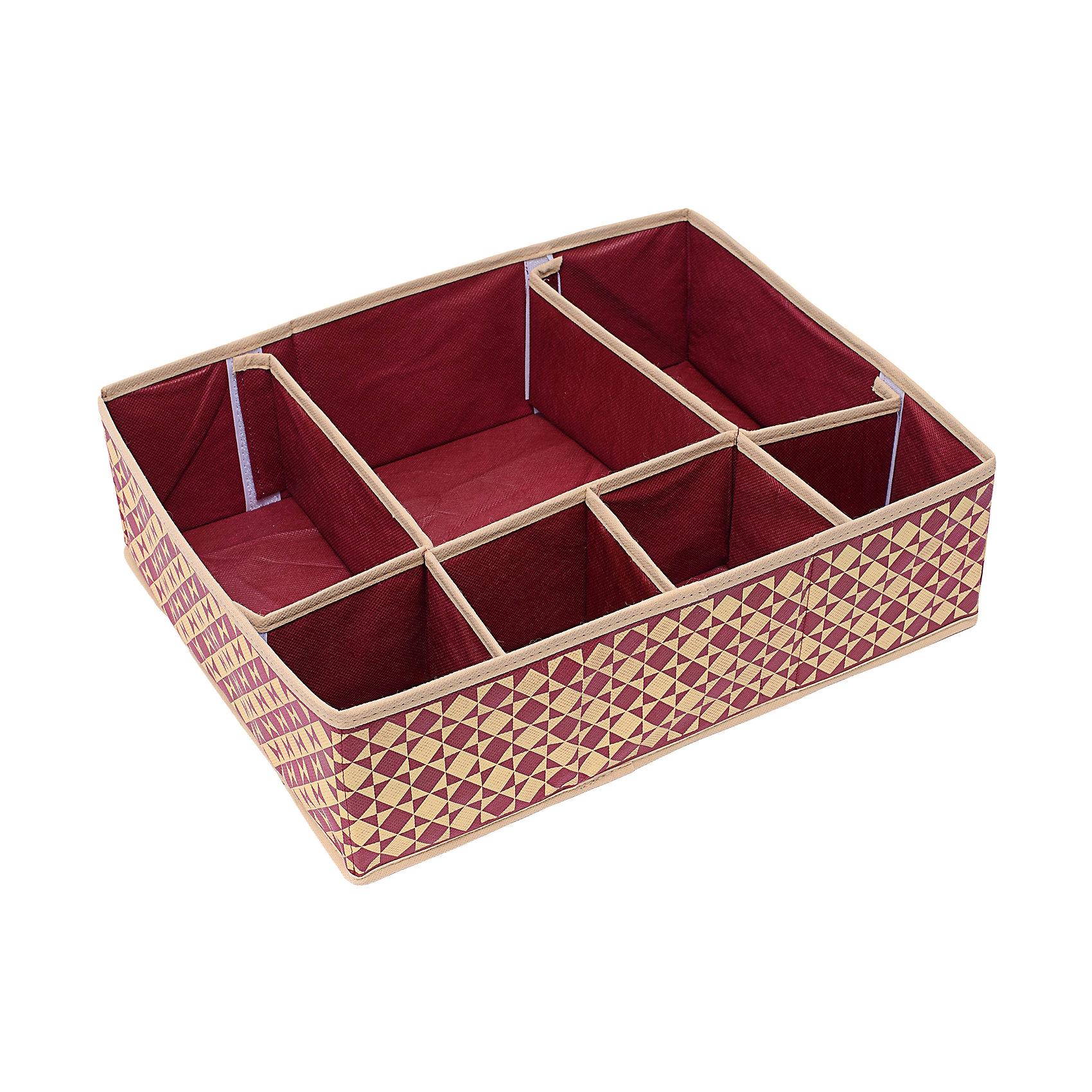 Органайзер для вещей (44*34*11) Bordo, HomsuПорядок в детской<br>Супер универсальный органайзер с секциями разного размера наведет порядок в любом ящике комода или на полке. Благодаря размерам ячеек, вы легко сможете хранить в нем вещи такие, как футболки, нижнее белье, носки, шапки и многое другое. Имеет жесткие борта, что является гарантией сохранности вещей. Подходит в шкафы Били от Икея.<br><br>Ширина мм: 460<br>Глубина мм: 300<br>Высота мм: 20<br>Вес г: 300<br>Возраст от месяцев: 216<br>Возраст до месяцев: 1188<br>Пол: Унисекс<br>Возраст: Детский<br>SKU: 5620174
