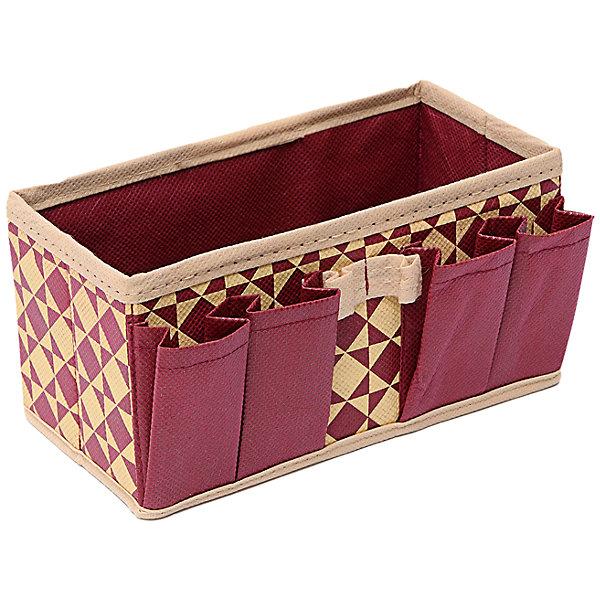 Органайзер украшений и мелочей (20*10*10) Bordo, HomsuОрганайзеры для одежды<br>Характеристики товара:<br><br>• цвет: бежевый<br>• материал: полиэстер, картон<br>• размер: 20х10х10 см<br>• вес: 100 г<br>• легкий прочный каркас<br>• обеспечивает естественную вентиляцию<br>• вместимость: 5 отделений<br>• страна бренда: Россия<br>• страна изготовитель: Китай<br><br>Органайзер для украшений и мелочей Bordo от бренда Homsu (Хомсу) - очень удобная вещь для хранения вещей и эргономичной организации пространства.<br><br>Предмет легкий, устойчивый, вместительный, обеспечивает естественную вентиляцию.<br><br>Органайзер для украшений и мелочей (20*10*10) Bordo, Homsu можно купить в нашем интернет-магазине.<br><br>Ширина мм: 200<br>Глубина мм: 100<br>Высота мм: 20<br>Вес г: 100<br>Возраст от месяцев: 216<br>Возраст до месяцев: 1188<br>Пол: Унисекс<br>Возраст: Детский<br>SKU: 5620177
