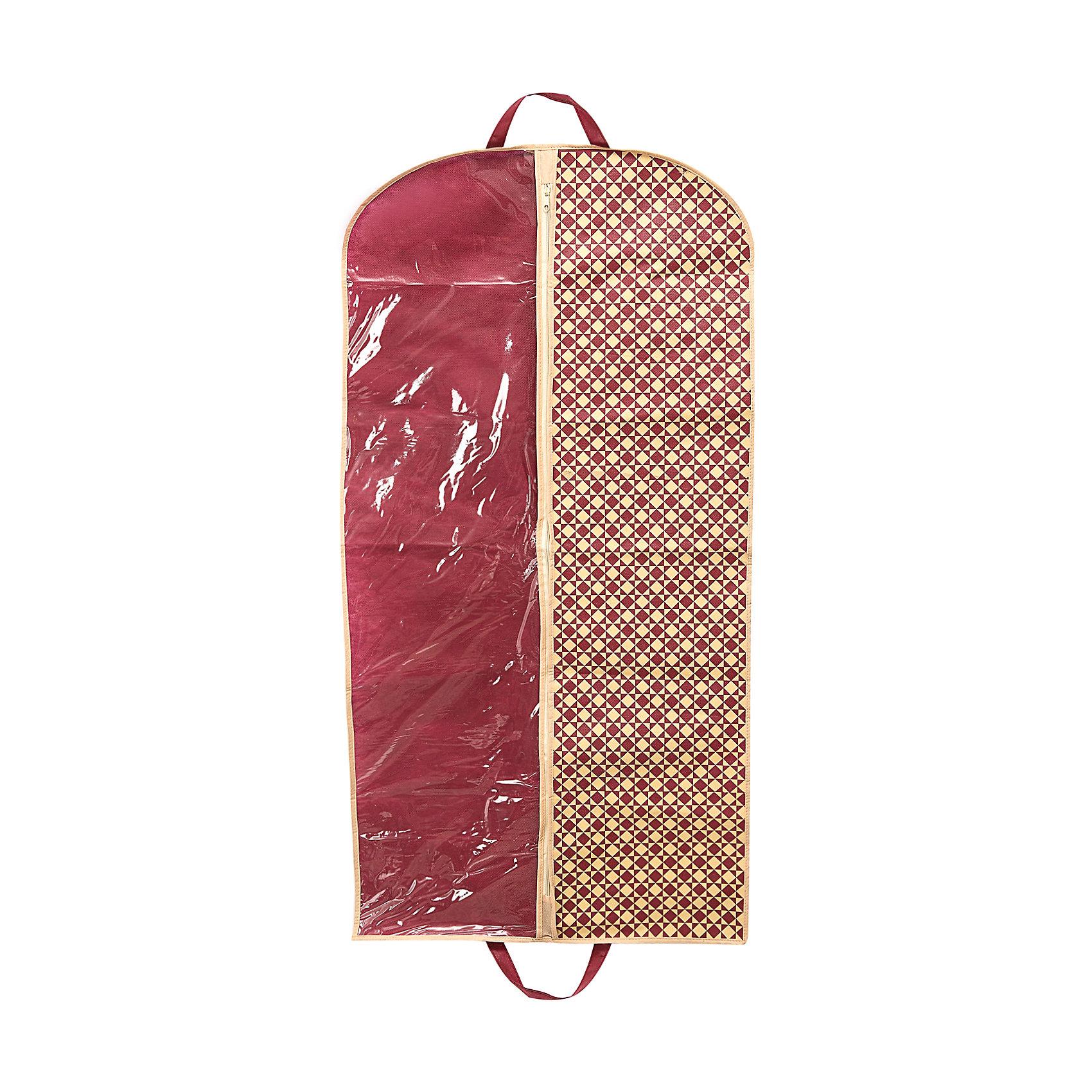 Чехол для одежды 120*60 Bordo, HomsuОрганайзеры для одежды<br>Характеристики товара:<br><br>• цвет: бордовый<br>• материал: спанбонд<br>• размер: 120х60 см<br>• вес: 100 г<br>• подвесной<br>• застежка: молния<br>• половина прозрачная<br>• страна бренда: Россия<br>• страна изготовитель: Китай<br><br>Чехол для одежды Bordo от бренда Homsu (Хомсу) - очень удобная вещь для хранения вещей и транспортировки одежды.<br><br>Он легкий, легко помещается в шкафу или на двери, прозрачная часть позволяет видеть его содержимое.<br><br>Чехол для одежды 120*60 Bordo, Homsu можно купить в нашем интернет-магазине.<br><br>Ширина мм: 260<br>Глубина мм: 200<br>Высота мм: 20<br>Вес г: 100<br>Возраст от месяцев: 216<br>Возраст до месяцев: 1188<br>Пол: Унисекс<br>Возраст: Детский<br>SKU: 5620180