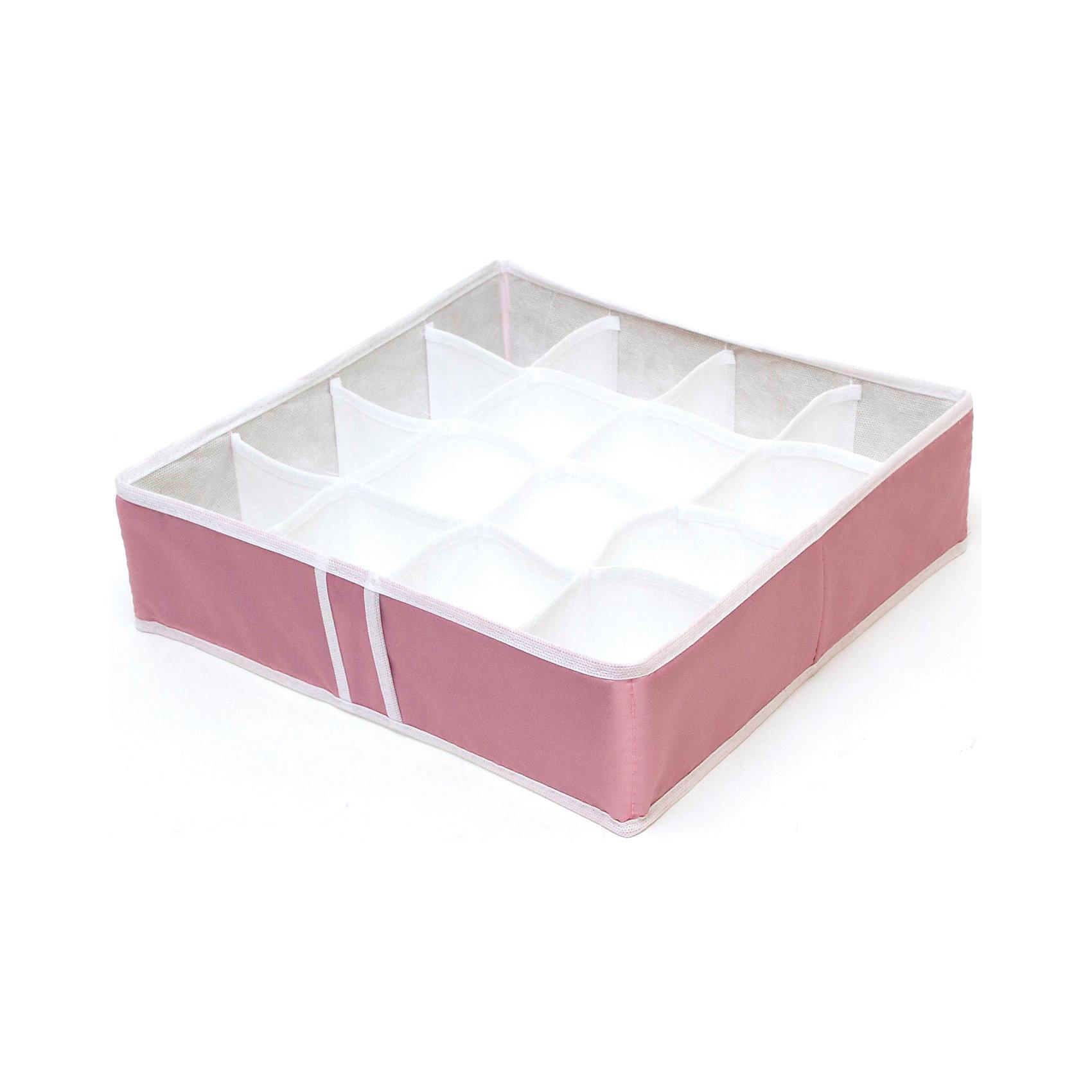 Органайзер на 16 ячеек Capri, HomsuПорядок в детской<br>Характеристики товара:<br><br>• цвет: розовый<br>• материал: полиэстер, картон<br>• размер: 35х35х10 см<br>• вес: 200 г<br>• легкий прочный каркас<br>• обеспечивает естественную вентиляцию<br>• вместимость: 16 отделений<br>• страна бренда: Россия<br>• страна изготовитель: Китай<br><br>Органайзер на 16 ячеек Capri от бренда Homsu (Хомсу) - очень удобная вещь для хранения вещей и эргономичной организации пространства.<br><br>Он легкий, устойчивый, вместительный, обеспечивает естественную вентиляцию.<br><br>Органайзер для бюстгальтеров на 16 ячеек Capri, Homsu можно купить в нашем интернет-магазине.<br><br>Ширина мм: 350<br>Глубина мм: 100<br>Высота мм: 20<br>Вес г: 200<br>Возраст от месяцев: 216<br>Возраст до месяцев: 1188<br>Пол: Унисекс<br>Возраст: Детский<br>SKU: 5620213
