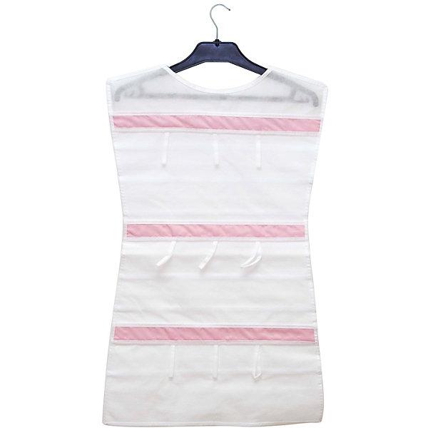 Органайзер-платье для украшений Capri, HomsuОрганайзеры для одежды<br>Характеристики товара:<br><br>• цвет: белый<br>• материал: полиэстер, ПВХ<br>• размер: 46х75 см<br>• вес: 300 г<br>• подвесной<br>• крепление: крючок<br>• вместимость: 36 отделений<br>• страна бренда: Россия<br>• страна изготовитель: Китай<br><br>Органайзер-платье для украшений Capri от бренда Homsu (Хомсу) - очень удобная вещь для хранения вещей и эргономичной организации пространства.<br><br>Он легкий, вместительный, легко помещается в шкафу или на двери.<br><br>Органайзер-платье для украшений Capri, Homsu можно купить в нашем интернет-магазине.<br><br>Ширина мм: 500<br>Глубина мм: 400<br>Высота мм: 20<br>Вес г: 300<br>Возраст от месяцев: 216<br>Возраст до месяцев: 1188<br>Пол: Унисекс<br>Возраст: Детский<br>SKU: 5620215