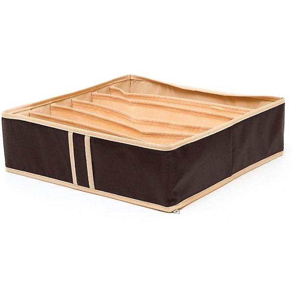 Органайзер для бюстгальтеров на 6 ячеек Costa-Rica, HomsuОрганайзеры для одежды<br>Характеристики товара:<br><br>• цвет: бордовый<br>• материал: полиэстер, картон<br>• размер: 35х35х10 см<br>• вес: 200 г<br>• легкий прочный каркас<br>• обеспечивает естественную вентиляцию<br>• вместимость: 6 отделений<br>• страна бренда: Россия<br>• страна изготовитель: Китай<br><br>Органайзер для бюстгальтеров на 6 ячеек Costa-Rica от бренда Homsu (Хомсу) - очень удобная вещь для хранения вещей и эргономичной организации пространства.<br><br>Он легкий, устойчивый, вместительный, обеспечивает естественную вентиляцию.<br><br>Органайзер для бюстгальтеров на 6 ячеек Costa-Rica, Homsu можно купить в нашем интернет-магазине.<br><br>Ширина мм: 350<br>Глубина мм: 100<br>Высота мм: 20<br>Вес г: 200<br>Возраст от месяцев: 216<br>Возраст до месяцев: 1188<br>Пол: Женский<br>Возраст: Детский<br>SKU: 5620216