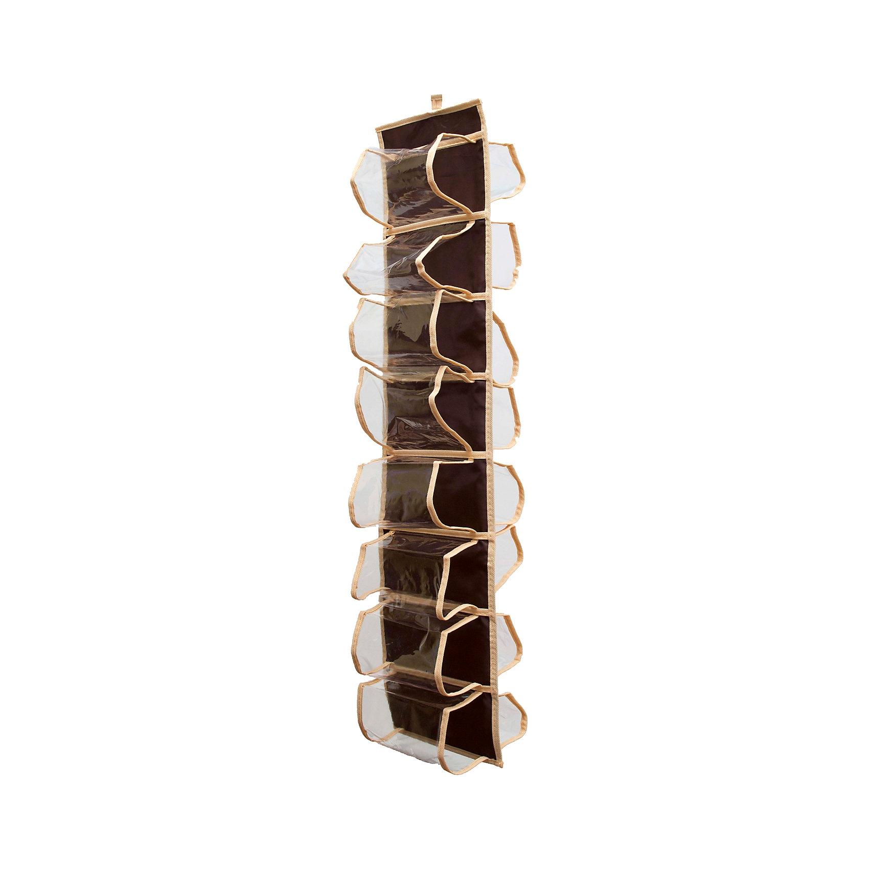 Органайзер для колготок, шарфов и мелочей Costa-Rica, HomsuПорядок в детской<br>Характеристики товара:<br><br>• цвет: коричневый<br>• материал: полиэстер<br>• размер: 20х80 см.<br>• вес: 200 гр.<br>• легко складывается и раскладывается<br>• крепление: петля<br>• естественная вентиляция<br>• вместимость: 16 отделений<br>• страна бренда: Россия<br>• страна изготовитель: Китай<br><br>Органайзер для колготок, шарфов и мелочей Costa-Rica от бренда Homsu (Хомсу) - очень удобная вещь для хранения вещей и эргономичной организации пространства.<br><br>Он состоит из 16 отделений, легко крепится на стену, дверь или внутрь шкафов.<br><br>Органайзер для колготок, шарфов и мелочей Costa-Rica, Homsu можно купить в нашем интернет-магазине.<br><br>Ширина мм: 300<br>Глубина мм: 220<br>Высота мм: 20<br>Вес г: 200<br>Возраст от месяцев: 216<br>Возраст до месяцев: 1188<br>Пол: Унисекс<br>Возраст: Детский<br>SKU: 5620217