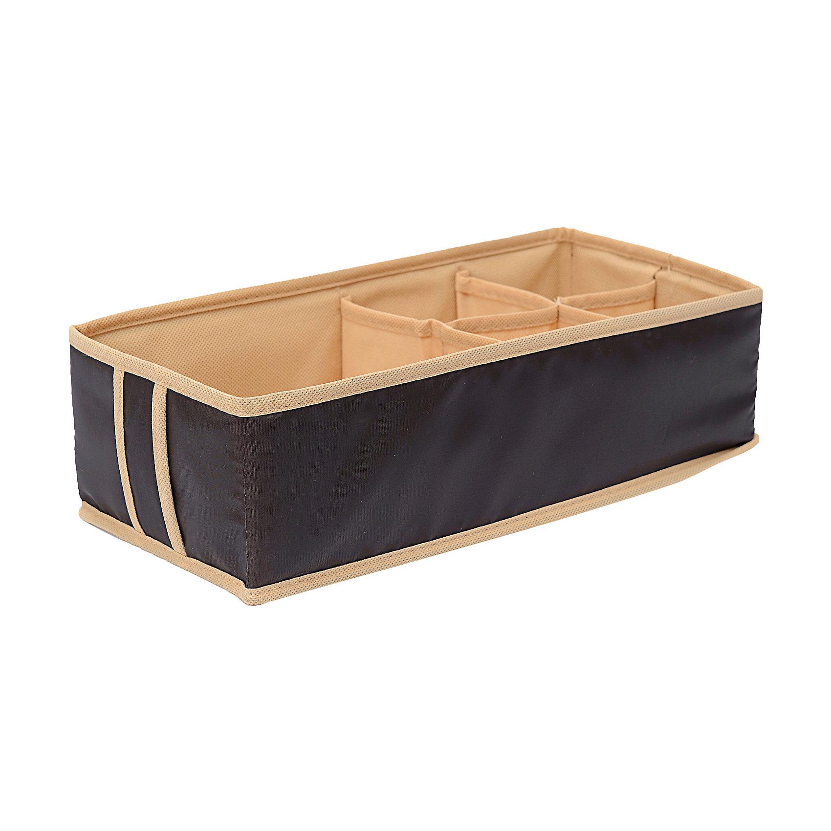 Органайзер на 4+1 секций Costa-Rica, HomsuПорядок в детской<br>Характеристики товара:<br><br>• цвет: коричневый<br>• материал: спанбонд, картон, ПВХ<br>• размер: 33х16х11 см<br>• вес: 100 г<br>• легкий прочный каркас<br>• обеспечивает естественную вентиляцию<br>• есть ручка<br>• вместимость: 5 отделений<br>• страна бренда: Россия<br>• страна изготовитель: Китай<br><br>Органайзер на 4+1 секций Costa-Rica от бренда Homsu (Хомсу) - очень удобная вещь для хранения вещей и эргономичной организации пространства.<br><br>Он легкий, устойчивый, вместительный, обеспечивает естественную вентиляцию.<br><br>Органайзер на 4+1 секций Costa-Rica, Homsu можно купить в нашем интернет-магазине.<br><br>Ширина мм: 475<br>Глубина мм: 100<br>Высота мм: 10<br>Вес г: 100<br>Возраст от месяцев: 216<br>Возраст до месяцев: 1188<br>Пол: Унисекс<br>Возраст: Детский<br>SKU: 5620223