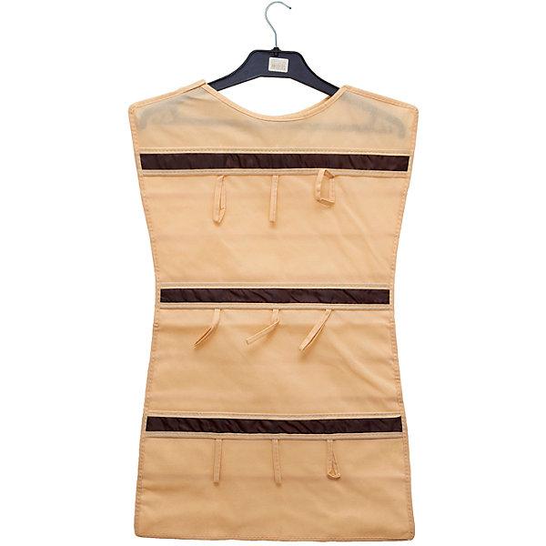 Органайзер-платье для украшений Costa-Rica, HomsuОрганайзеры для одежды<br>Характеристики товара:<br><br>• цвет: бежевый<br>• материал: полиэстер, ПВХ<br>• размер: 46х75 см<br>• вес: 300 г<br>• подвесной<br>• крепление: крючок<br>• вместимость: 36 отделений<br>• страна бренда: Россия<br>• страна изготовитель: Китай<br><br>Органайзер-платье для украшений Costa-Rica от бренда Homsu (Хомсу) - очень удобная вещь для хранения вещей и эргономичной организации пространства.<br><br>Он легкий, вместительный, легко помещается в шкафу или на двери.<br><br>Органайзер-платье для украшений Costa-Rica, Homsu можно купить в нашем интернет-магазине.<br><br>Ширина мм: 500<br>Глубина мм: 400<br>Высота мм: 20<br>Вес г: 300<br>Возраст от месяцев: 216<br>Возраст до месяцев: 1188<br>Пол: Унисекс<br>Возраст: Детский<br>SKU: 5620224