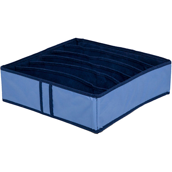 Органайзер для бюстгальтеров на 6 ячеек Bluе sky, HomsuОрганайзеры для одежды<br>Характеристики товара:<br><br>• цвет: синий<br>• материал: полиэстер, картон<br>• размер: 35х35х10 см<br>• вес: 200 г<br>• легкий прочный каркас<br>• обеспечивает естественную вентиляцию<br>• вместимость: 6 отделений<br>• страна бренда: Россия<br>• страна изготовитель: Китай<br><br>Органайзер для бюстгальтеров на 6 ячеек Bluе sky от бренда Homsu (Хомсу) - очень удобная вещь для хранения вещей и эргономичной организации пространства.<br><br>Он легкий, устойчивый, вместительный, обеспечивает естественную вентиляцию.<br><br>Органайзер для бюстгальтеров на 6 ячеек Bluе sky, Homsu можно купить в нашем интернет-магазине.<br>Ширина мм: 350; Глубина мм: 100; Высота мм: 20; Вес г: 200; Возраст от месяцев: 216; Возраст до месяцев: 1188; Пол: Женский; Возраст: Детский; SKU: 5620227;